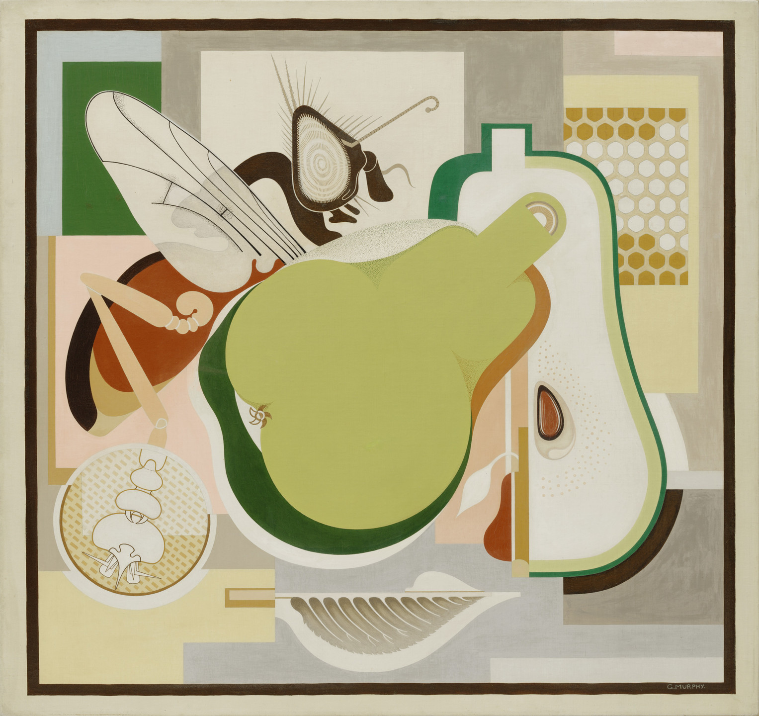 Gerald Murphy. Wasp and Pear. 1929