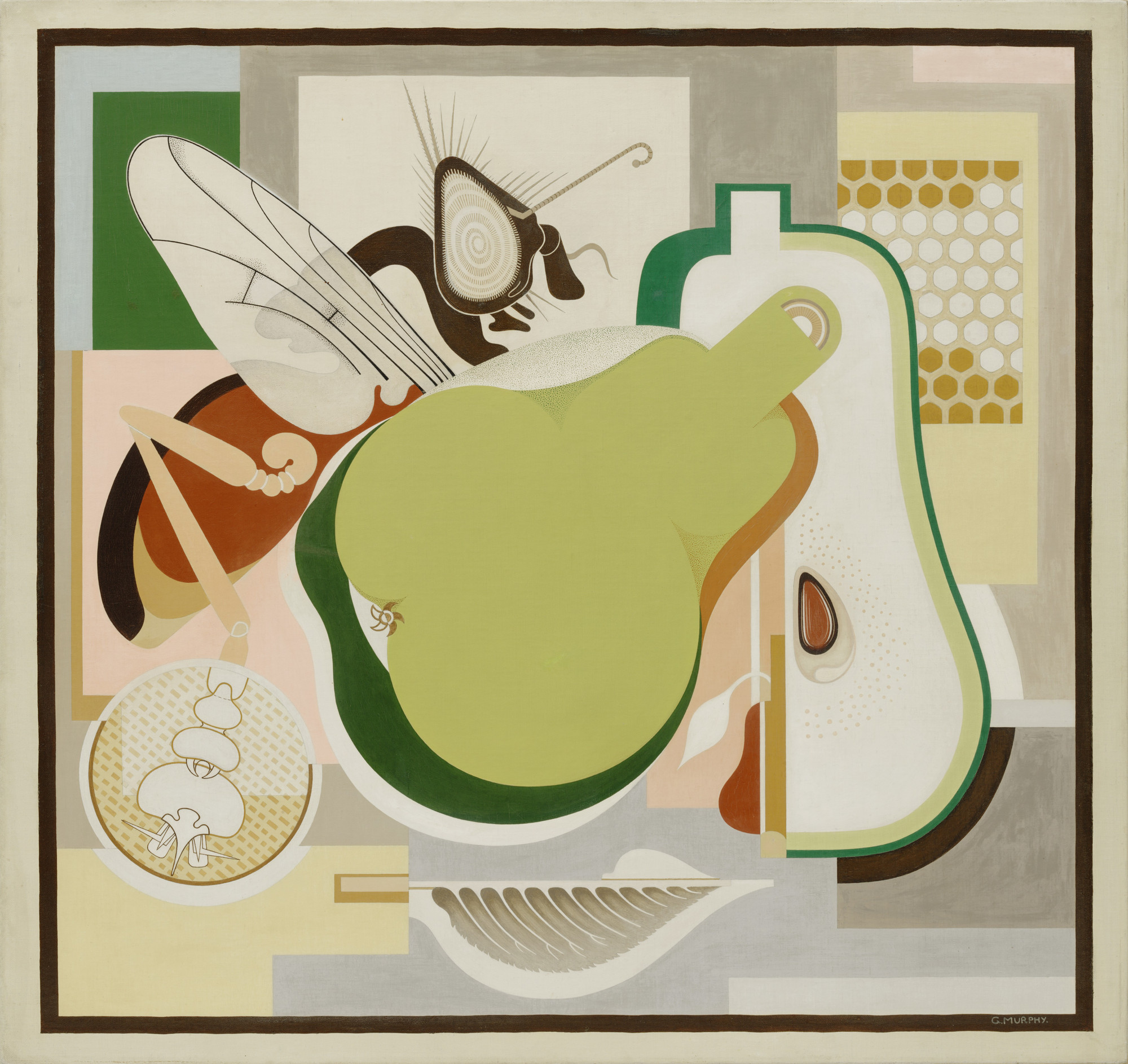 gerald murphy wasp and pear 1929 moma