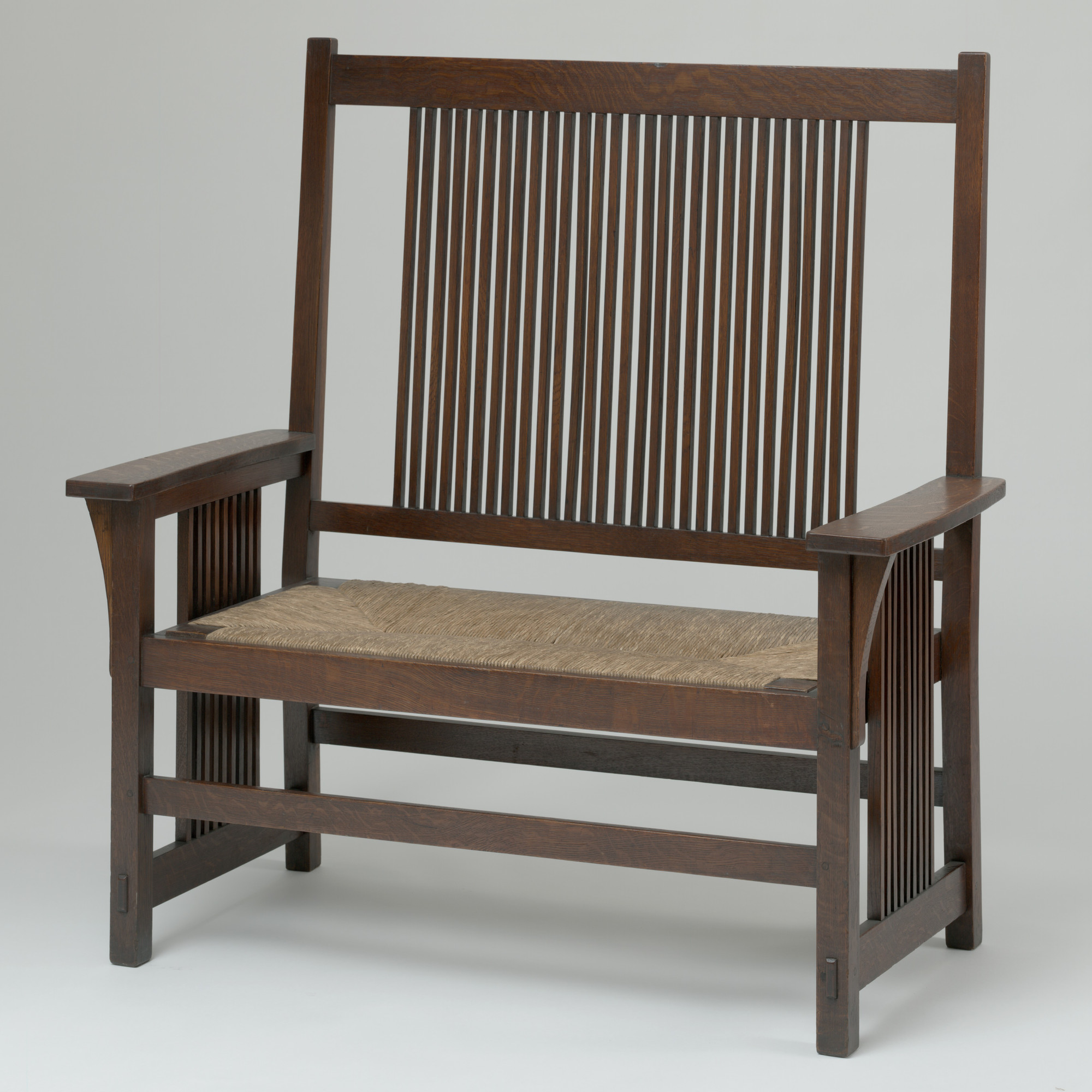 Gustav Stickley. Settee. 1905