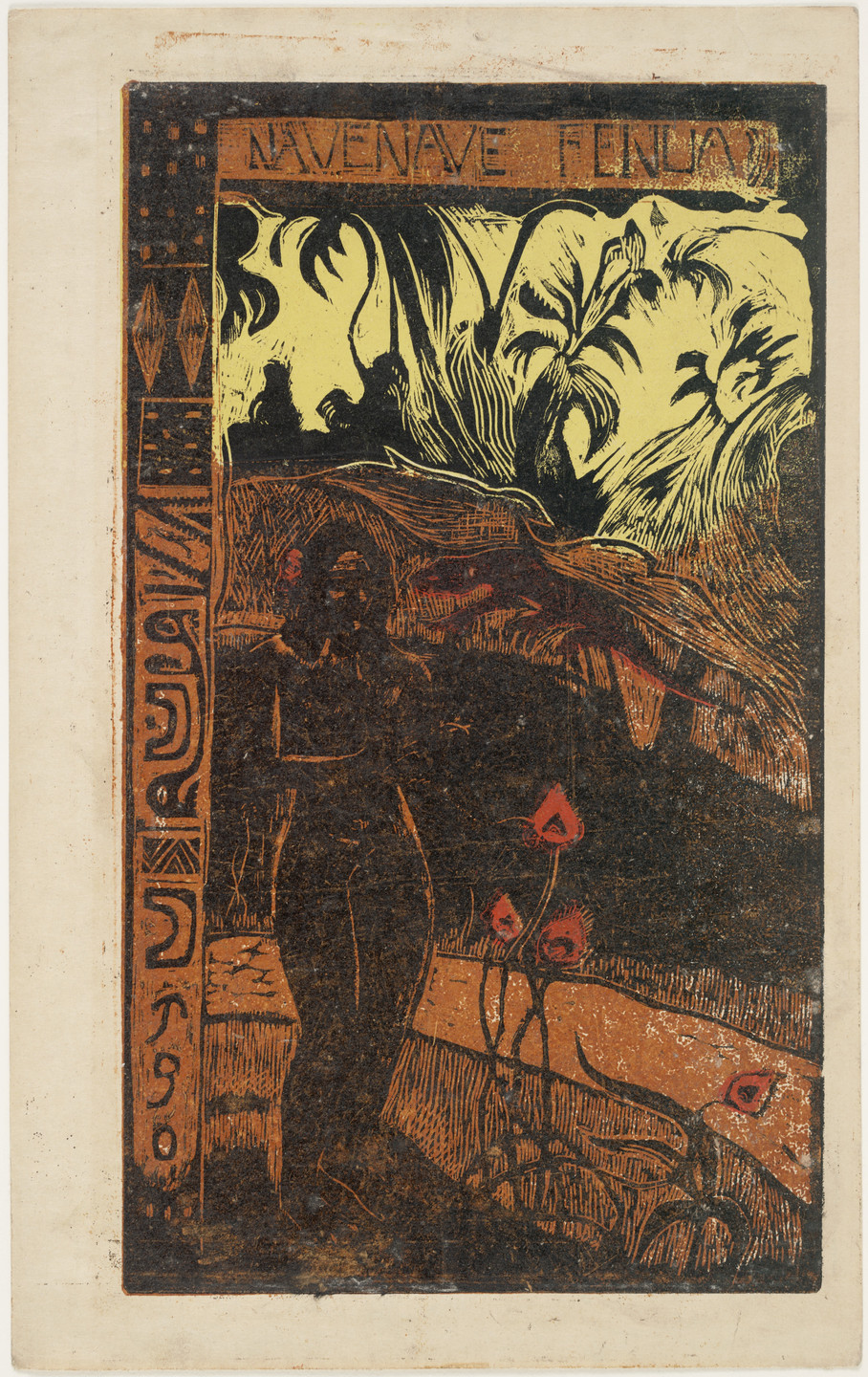 Paul Gauguin. Nave nave fenua (Delightful Land) from Noa Noa (Fragrant Scent). 1893–94
