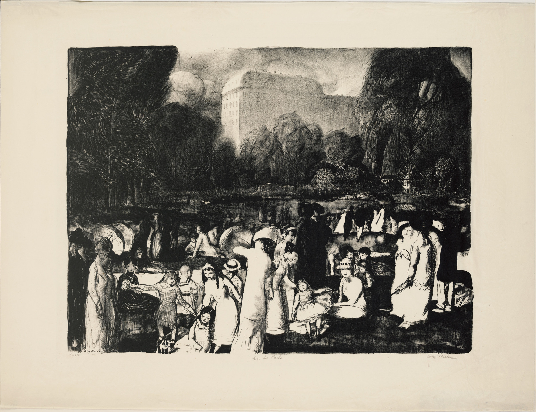 George Bellows. In the Park, Light. 1916