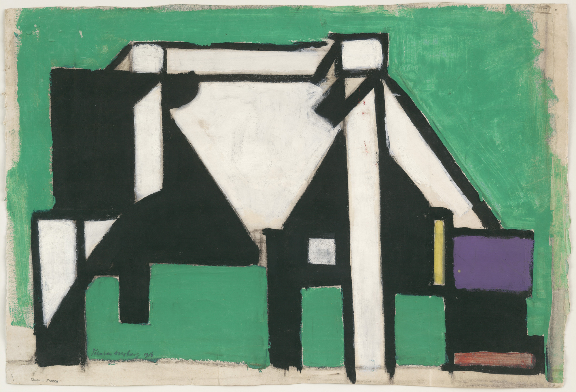 Theo van Doesburg (Christian Emil Marie Küpper). Composition (The Cow). c. 1917