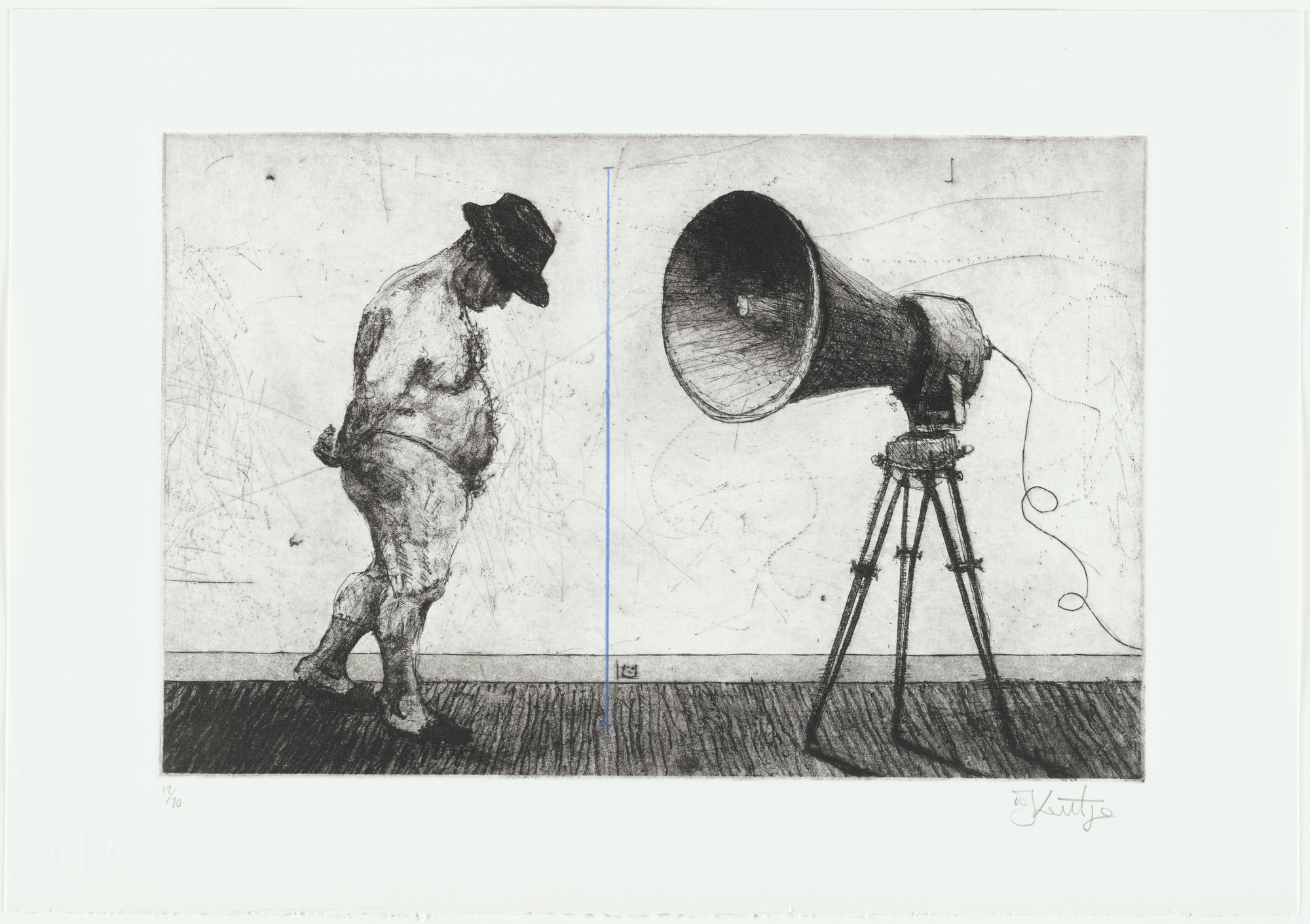 William Kentridge. Untitled (Man with Megaphone). 1998