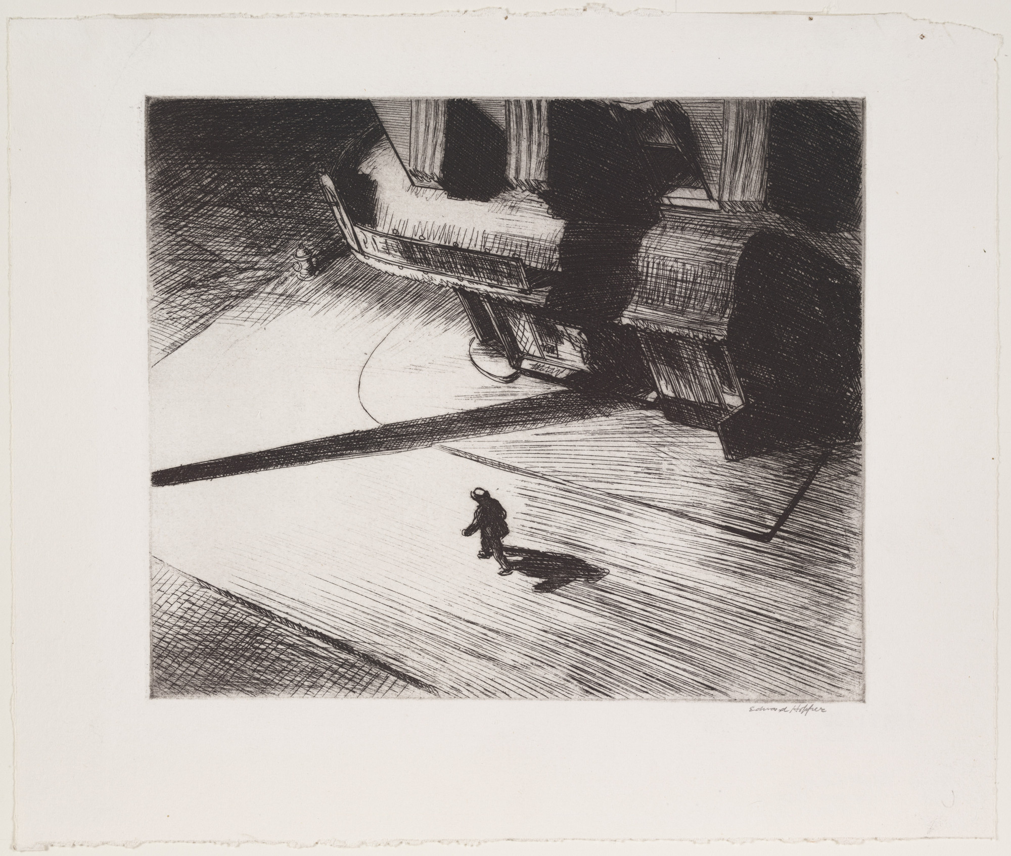 Edward Hopper. Night Shadows. 1921, published December 1924