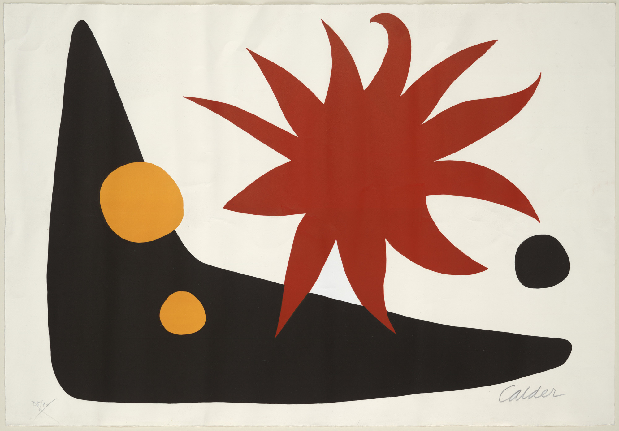 Alexander Calder. The Red Sun (Le soleil rouge). 1965