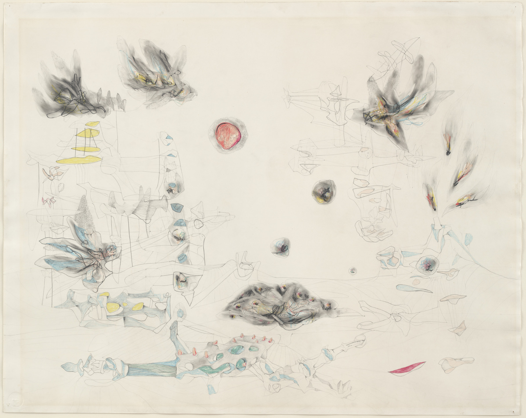 Roberto Matta. Condors and Carrion (Condors y carroña). 1941