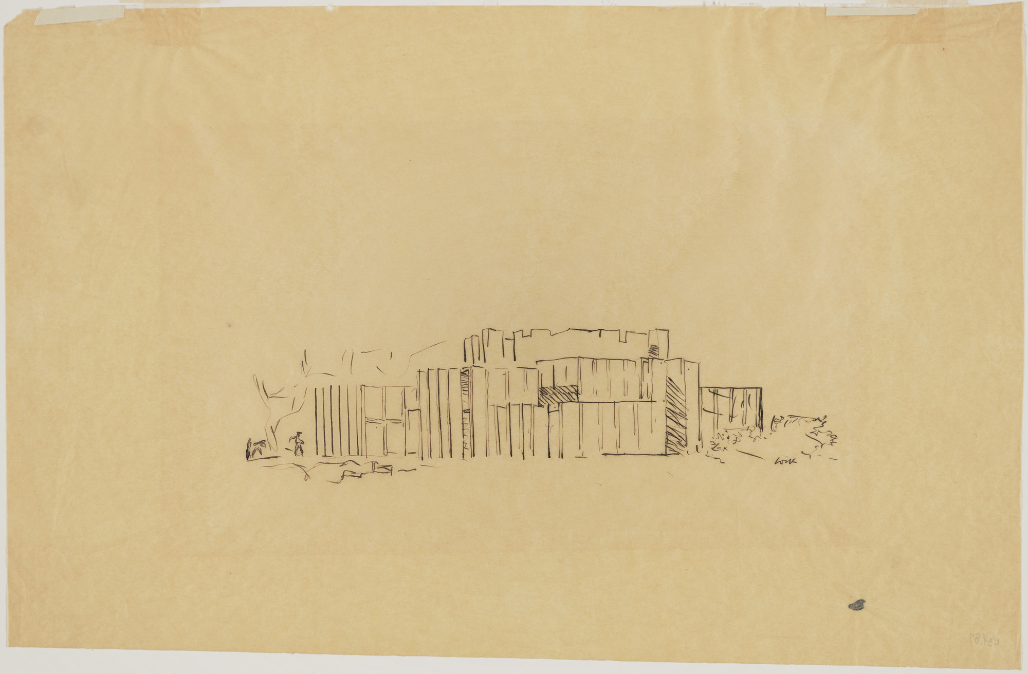 Louis I. Kahn. Mr. and Mrs. Lawrence Morris House, Mount Kisco, New York, Perspective. 1958