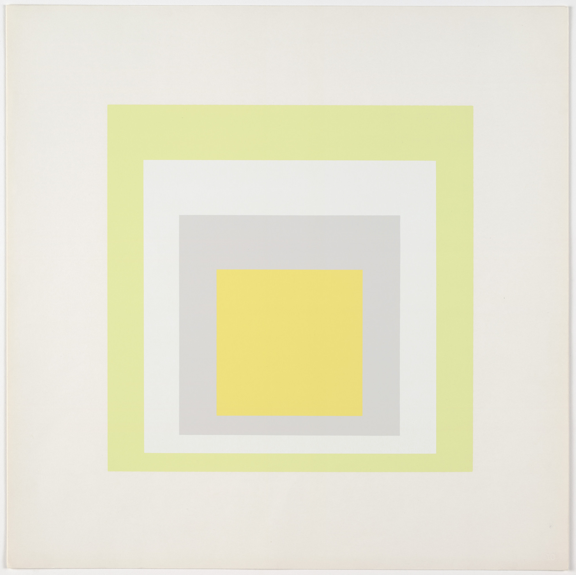 Josef Albers. Joy from Homage to the Square: Ten Works by Josef Albers. 1962