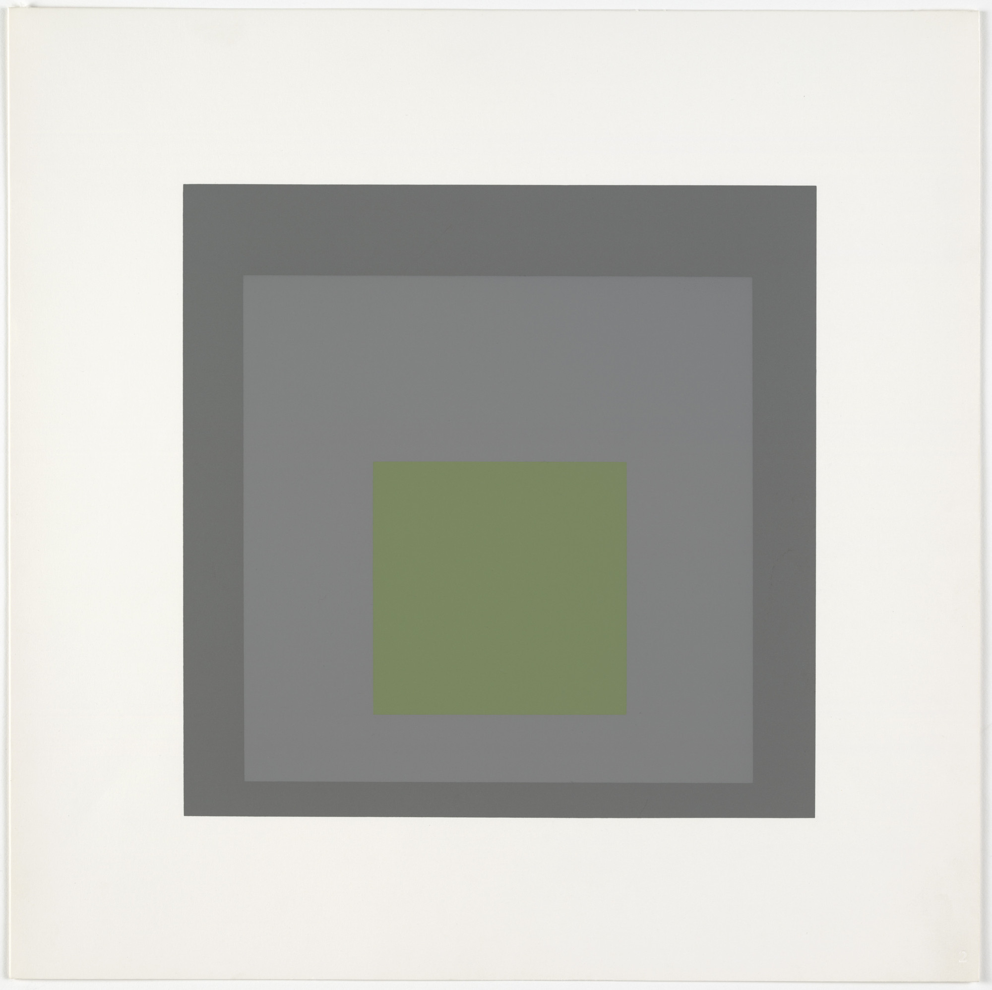 Josef Albers. Thaw from Homage to the Square: Ten Works by Josef Albers. 1962