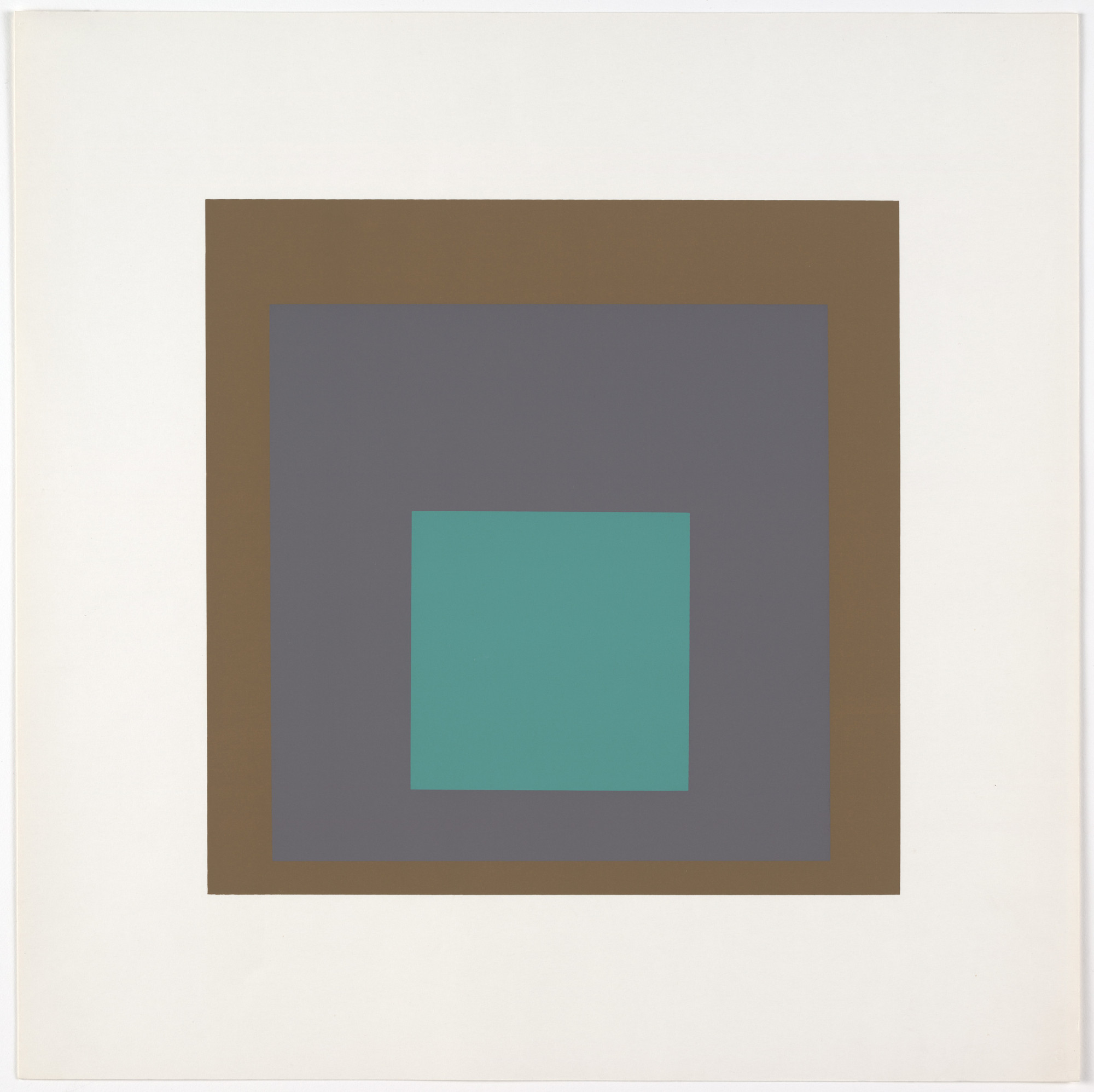 Josef Albers. Aura from Homage to the Square: Ten Works by Josef Albers. 1962
