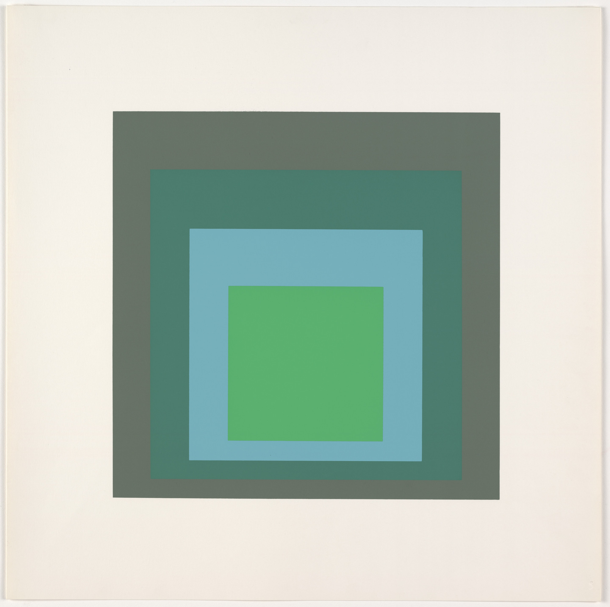 Josef Albers. Patina from Homage to the Square: Ten Works by Josef Albers. 1962