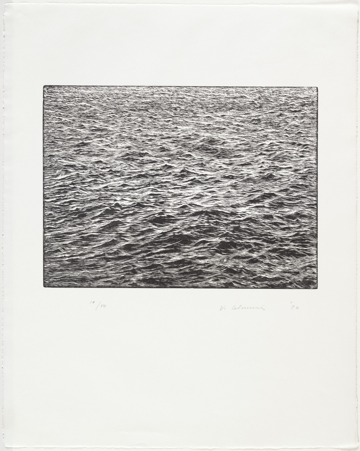 Vija Celmins. Ocean Surface Woodcut 1992. 1992
