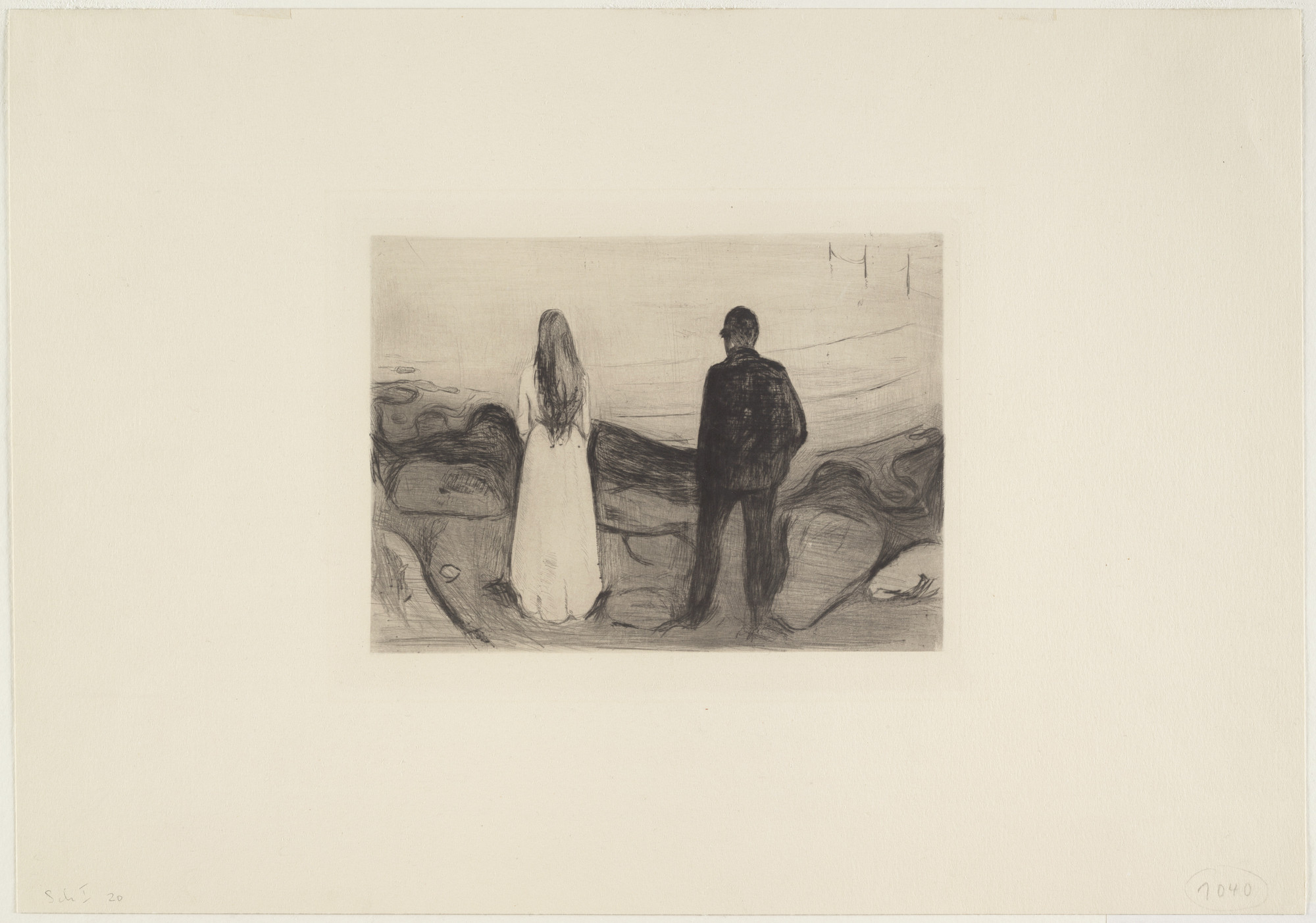 Edvard Munch. Two People. The Lonely Ones (To mennesker. De ensomme). 1894, published 1895