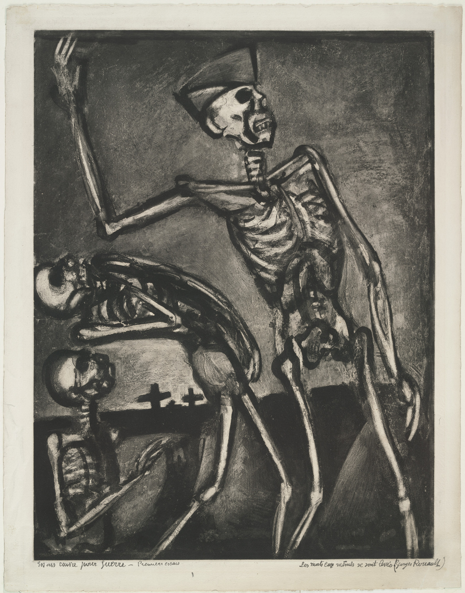 "Georges Rouault. Trial proof for ""Arise, Ye Dead!,"" plate LIV from Miserere. (Book commissioned, but unpublished by Vollard;  Print executed 1927; Book publi"