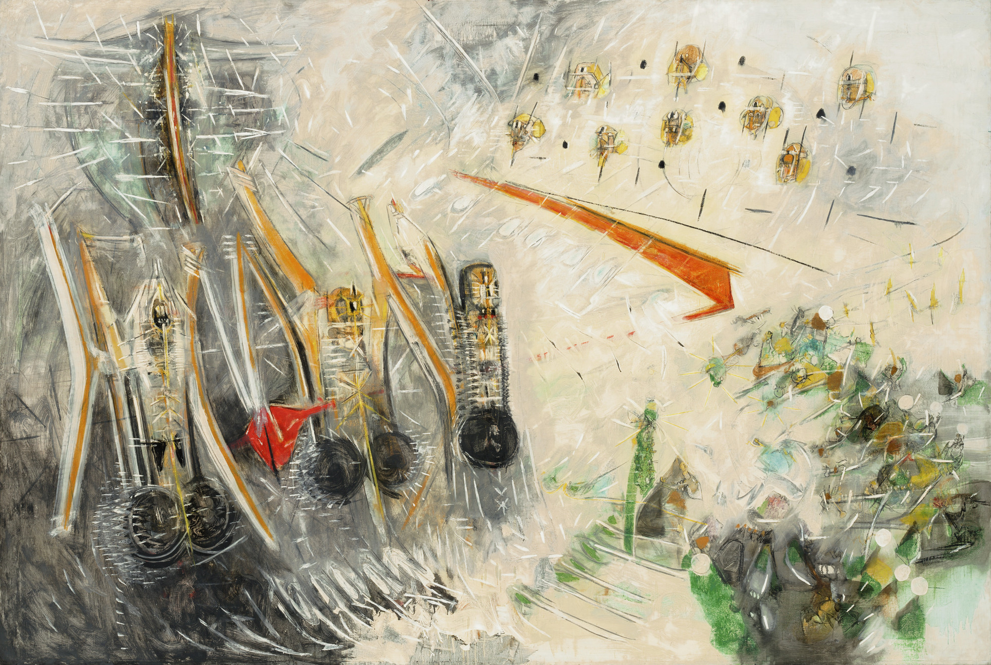 Roberto Matta. The Spherical Roof Around our Tribe (Revolvers). 1952