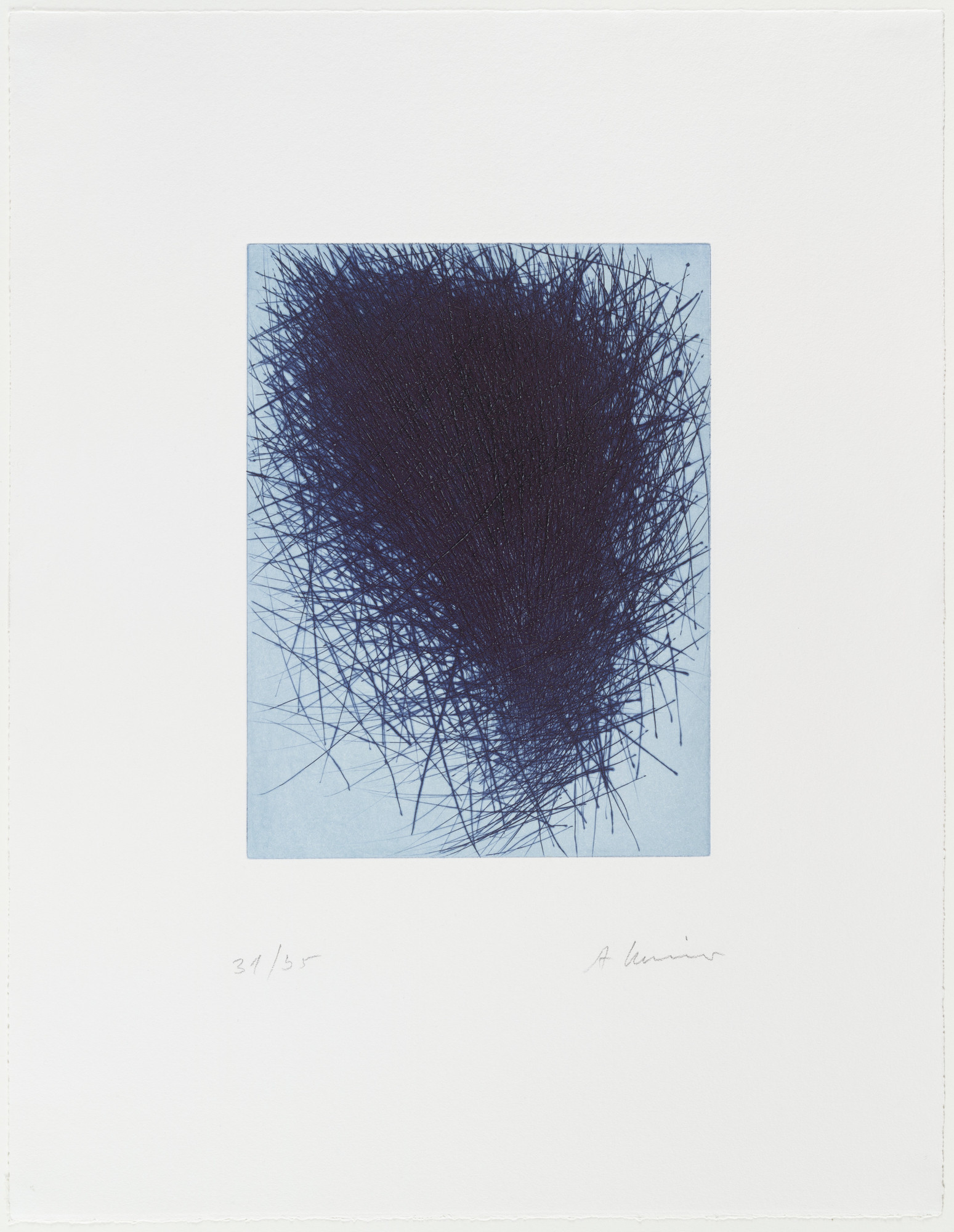 Arnulf Rainer. Blue Nest. 1997