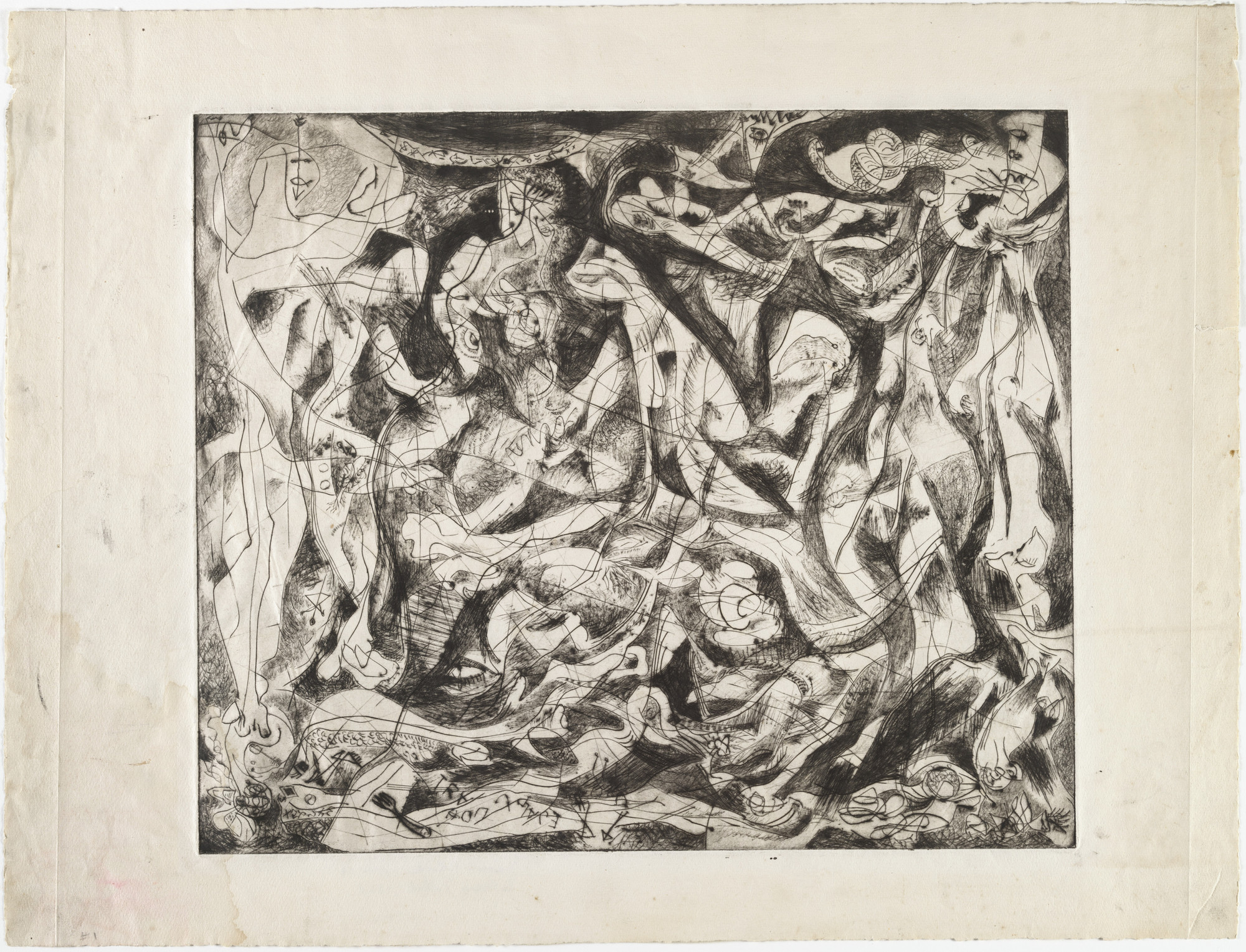 Jackson Pollock. Untitled (4), state II of III. 1944–1945
