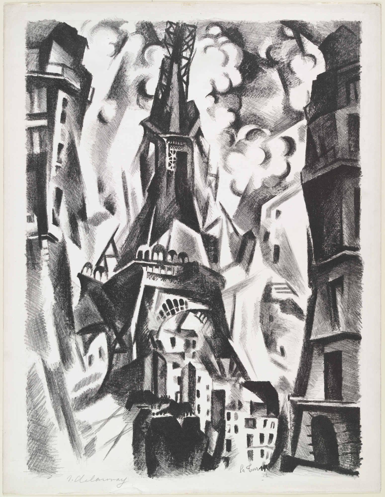 Robert Delaunay. La Tour (The Eiffel Tower). 1925