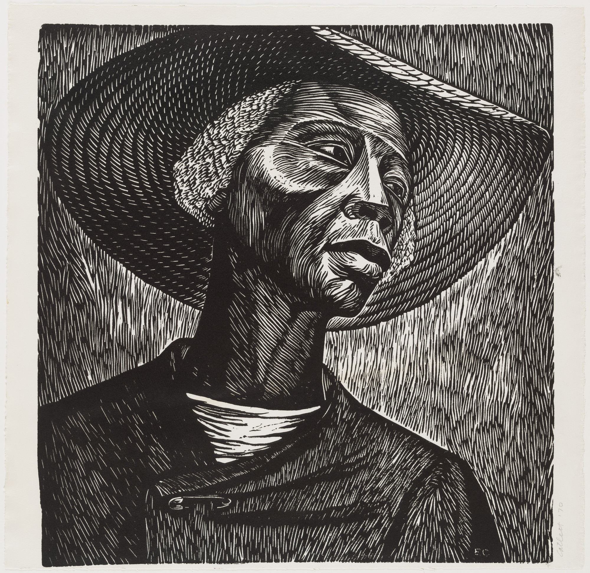 Elizabeth Catlett. Sharecropper. 1952, published 1968–70