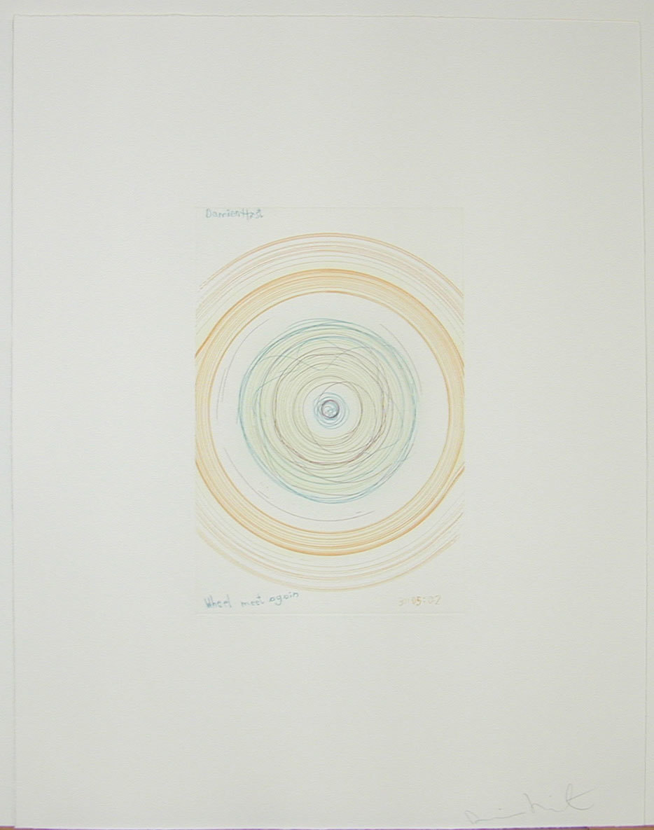 Damien Hirst. Wheel meet again from In a Spin, the Action of the World on Things, Volume 1. 2002
