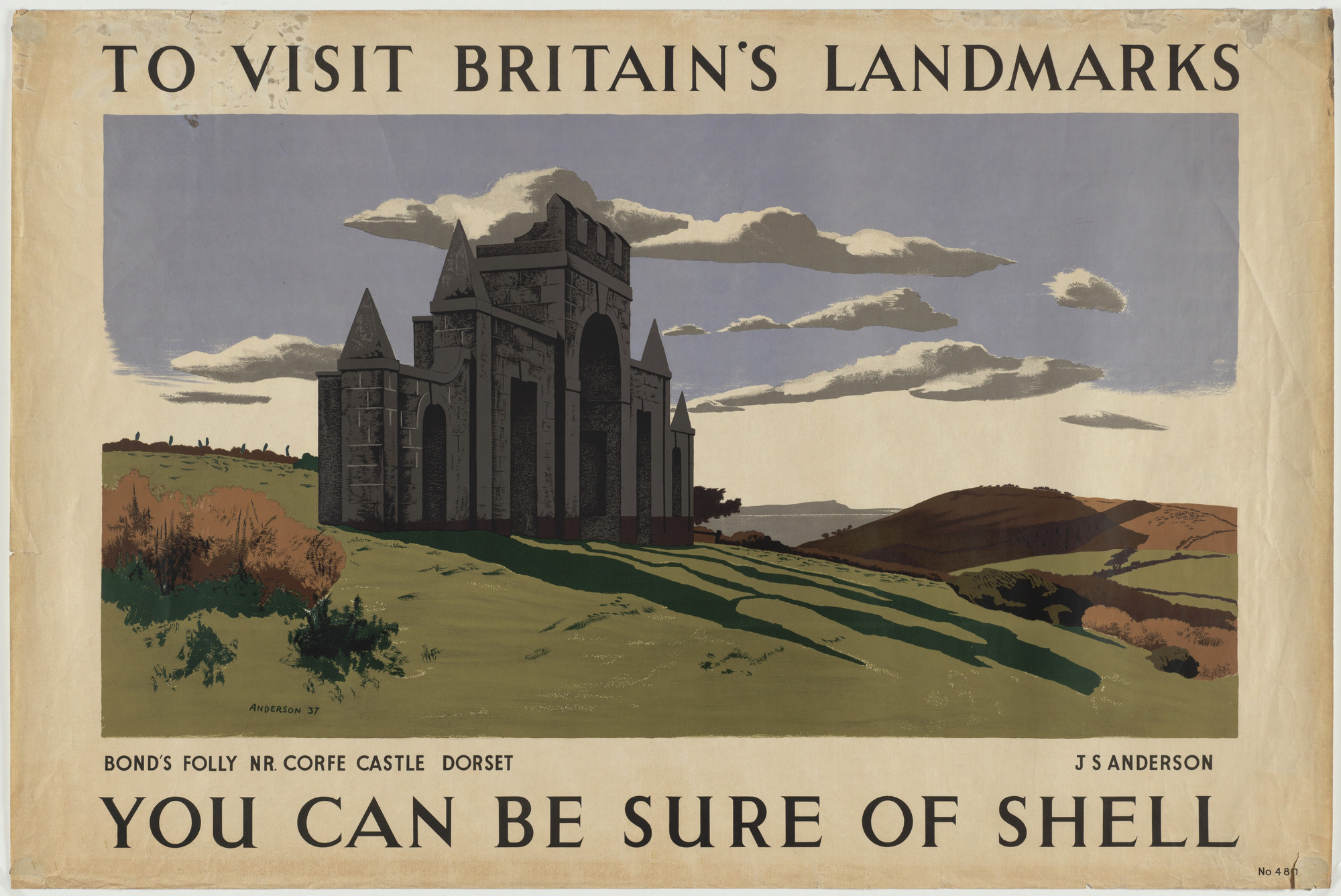 J. S. Anderson. To Visit Britain's Landmarks, You Can Be Sure of Shell. c. 1939-43