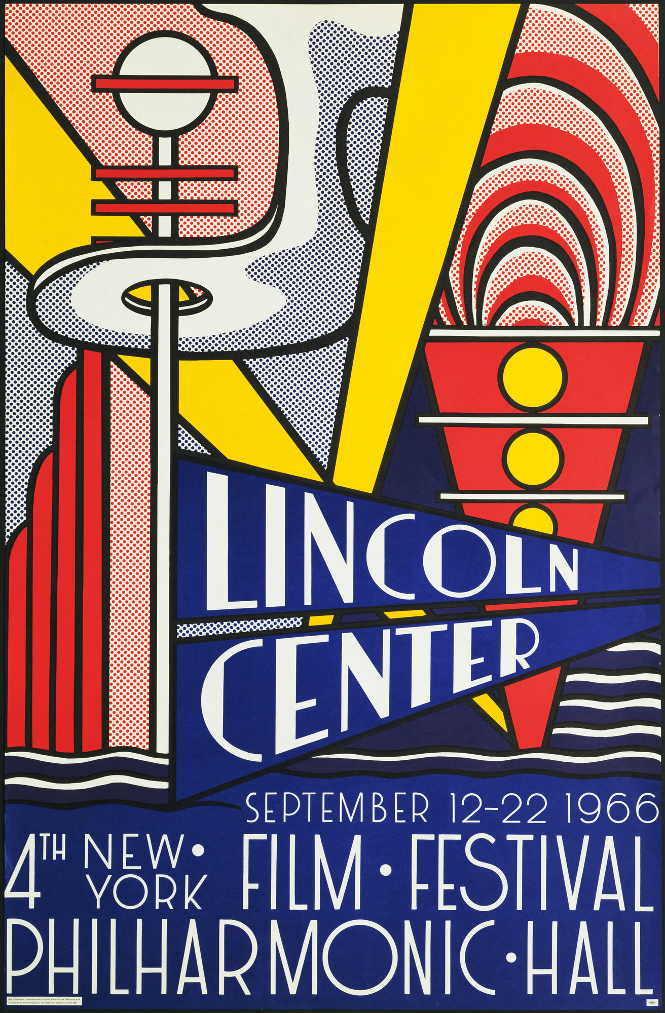 Roy Lichtenstein. Lincoln Center / September 12-22 1966 / 4th New ...