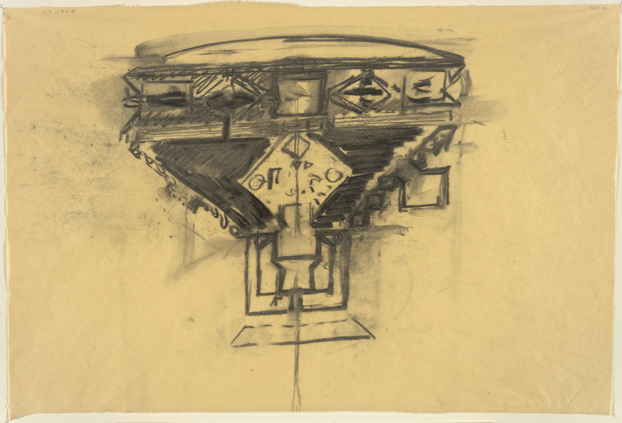 Louis I. Kahn. Sher-e-Bangla Nagar, Capital of Bangladesh, Dhaka, Bangladesh (Plan sketch). 1963