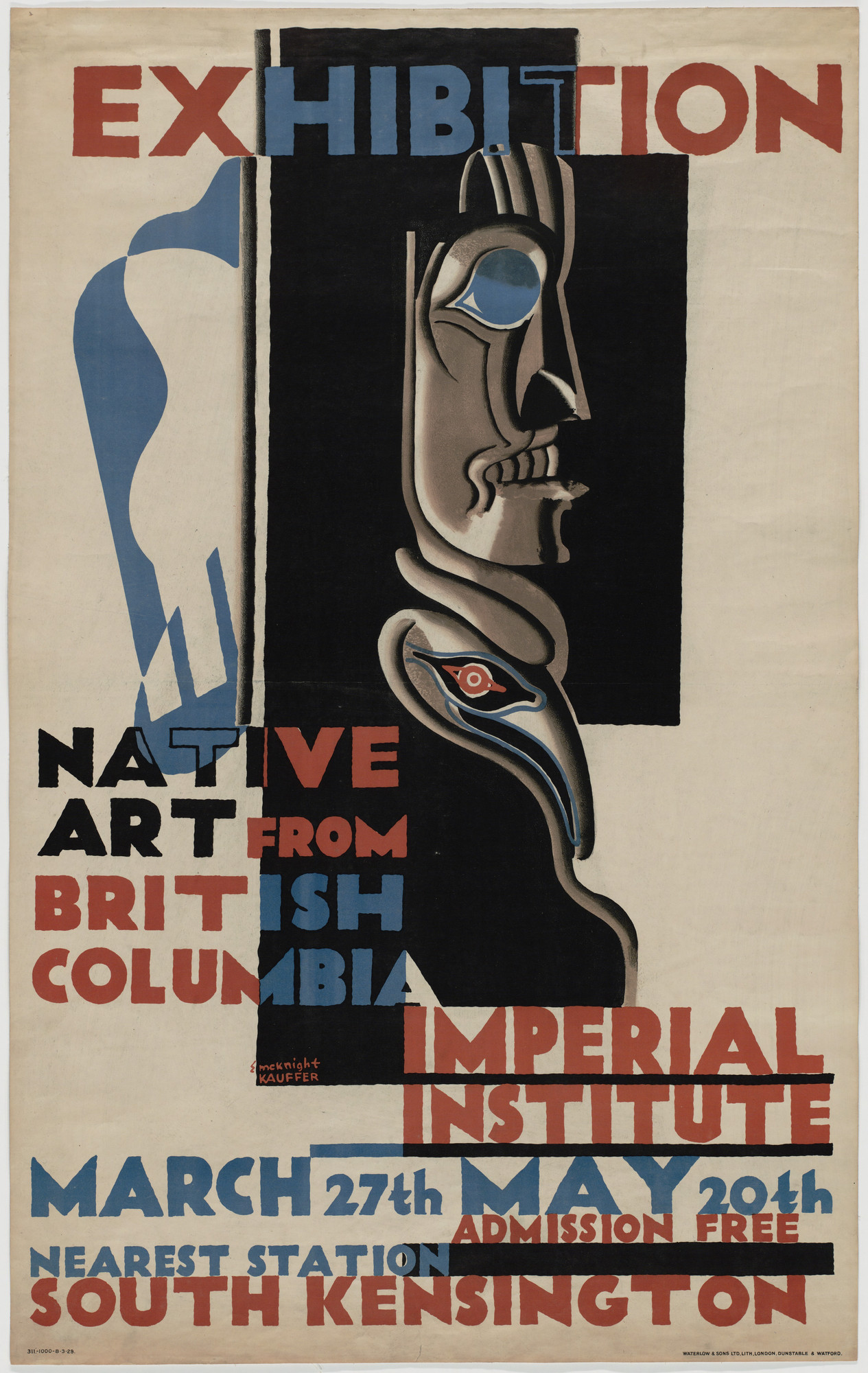 E. McKnight Kauffer. Exhibition: Native Art from British Columbia, Imperial Institute. 1929