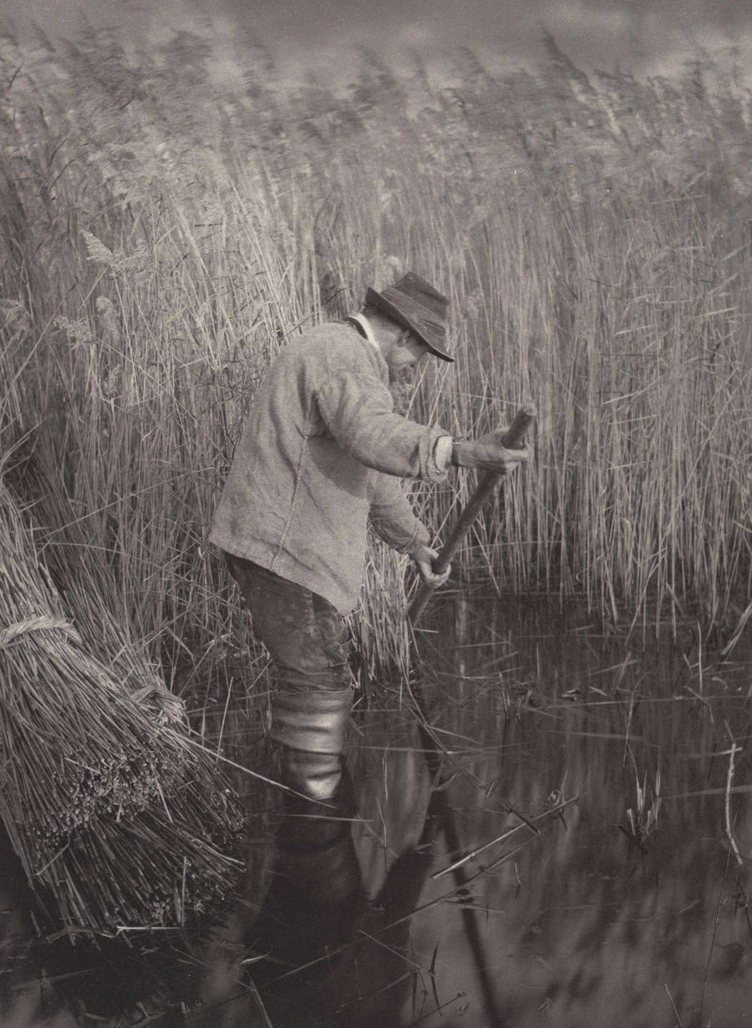 Peter Henry Emerson, T. F. Goodall. A Reed-Cutter at Work from Life and Landscape on the Norfolk Broads (London, 1886). c. 1885