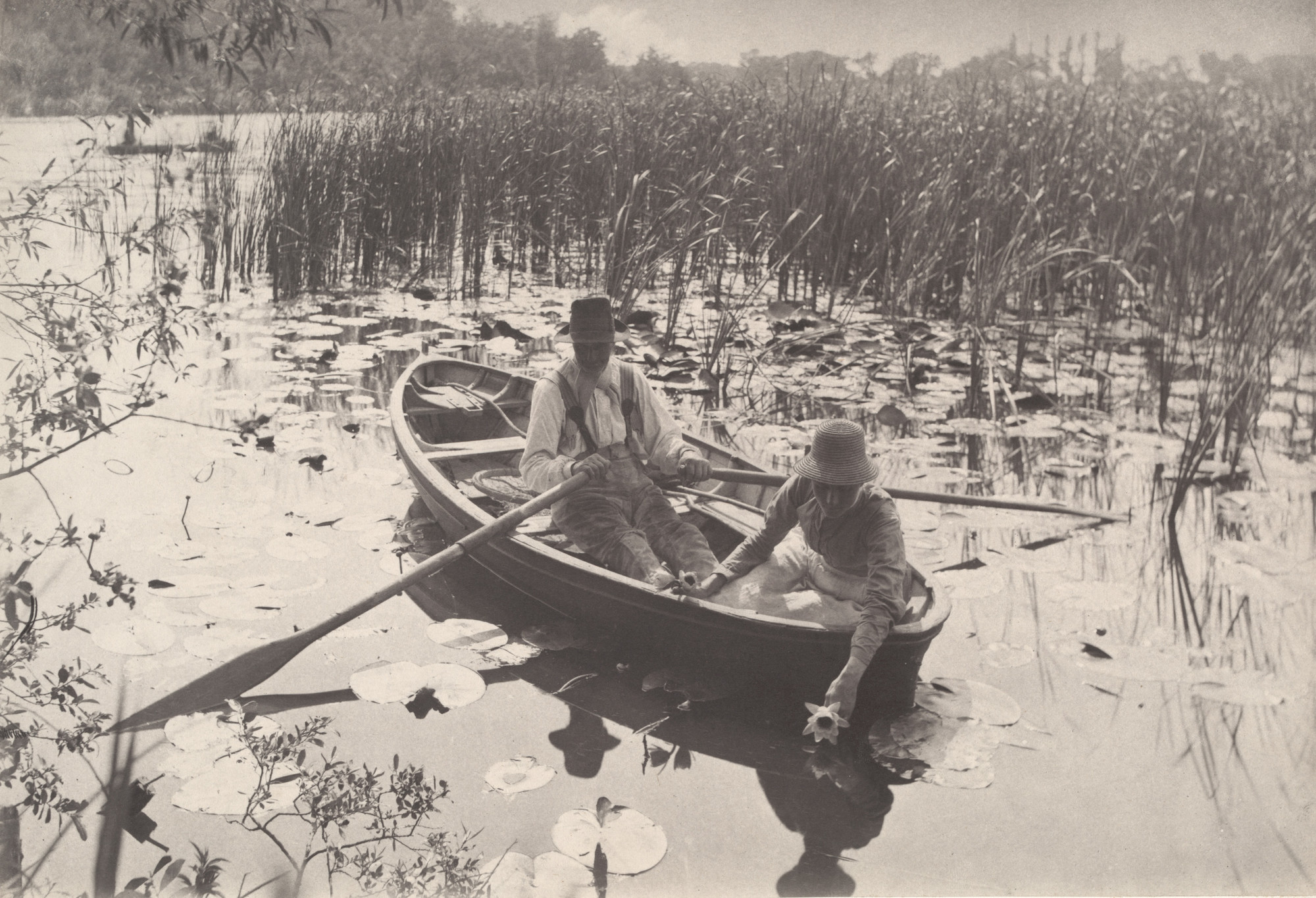 Peter Henry Emerson, T. F. Goodall. Gathering Water-Lilies from Life and Landscape on the Norfolk Broads (London, 1886). c. 1885