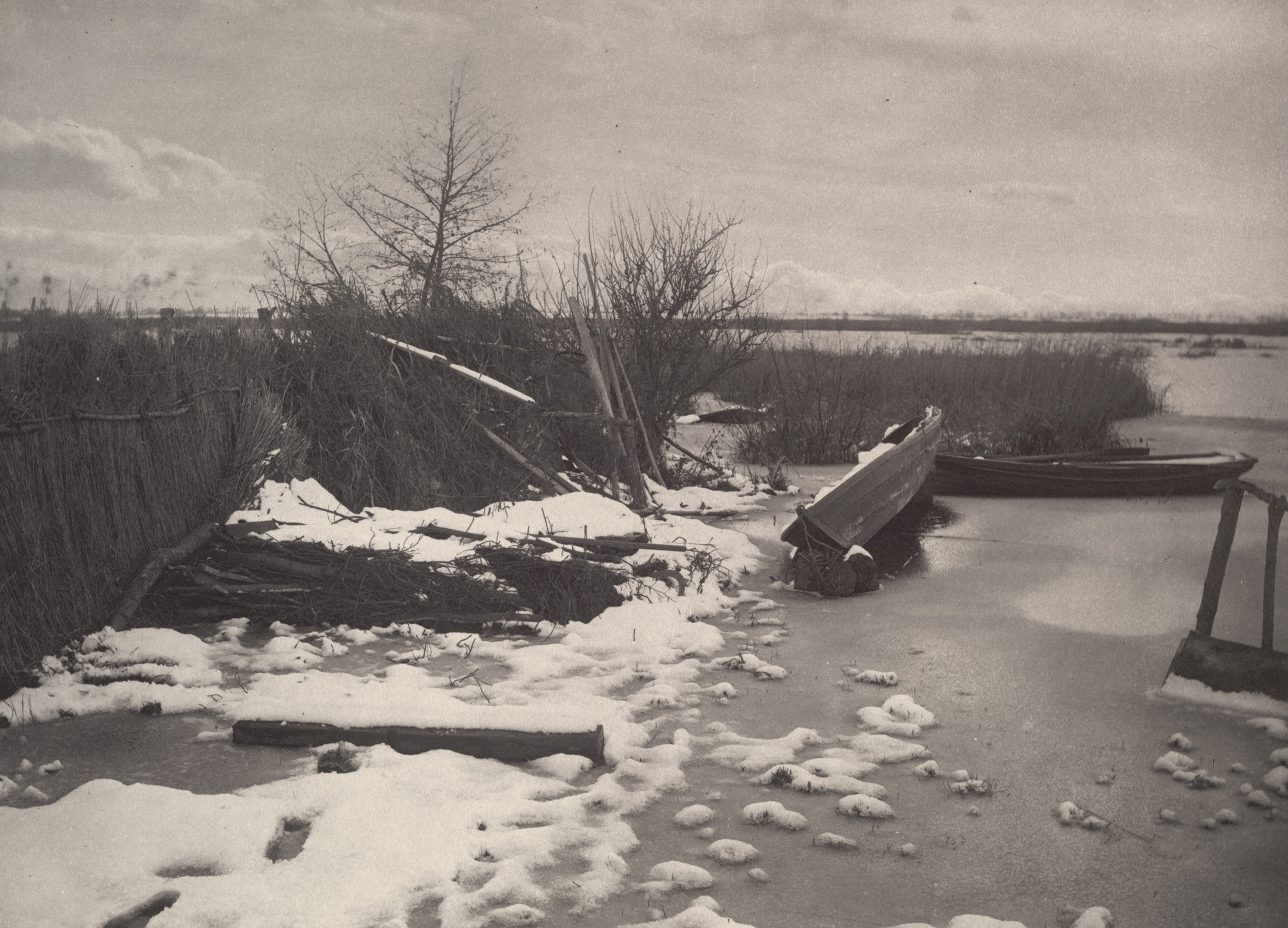 Peter Henry Emerson, T. F. Goodall. The First Frost from Life and Landscape on the Norfolk Broads (London, 1886). c. 1885
