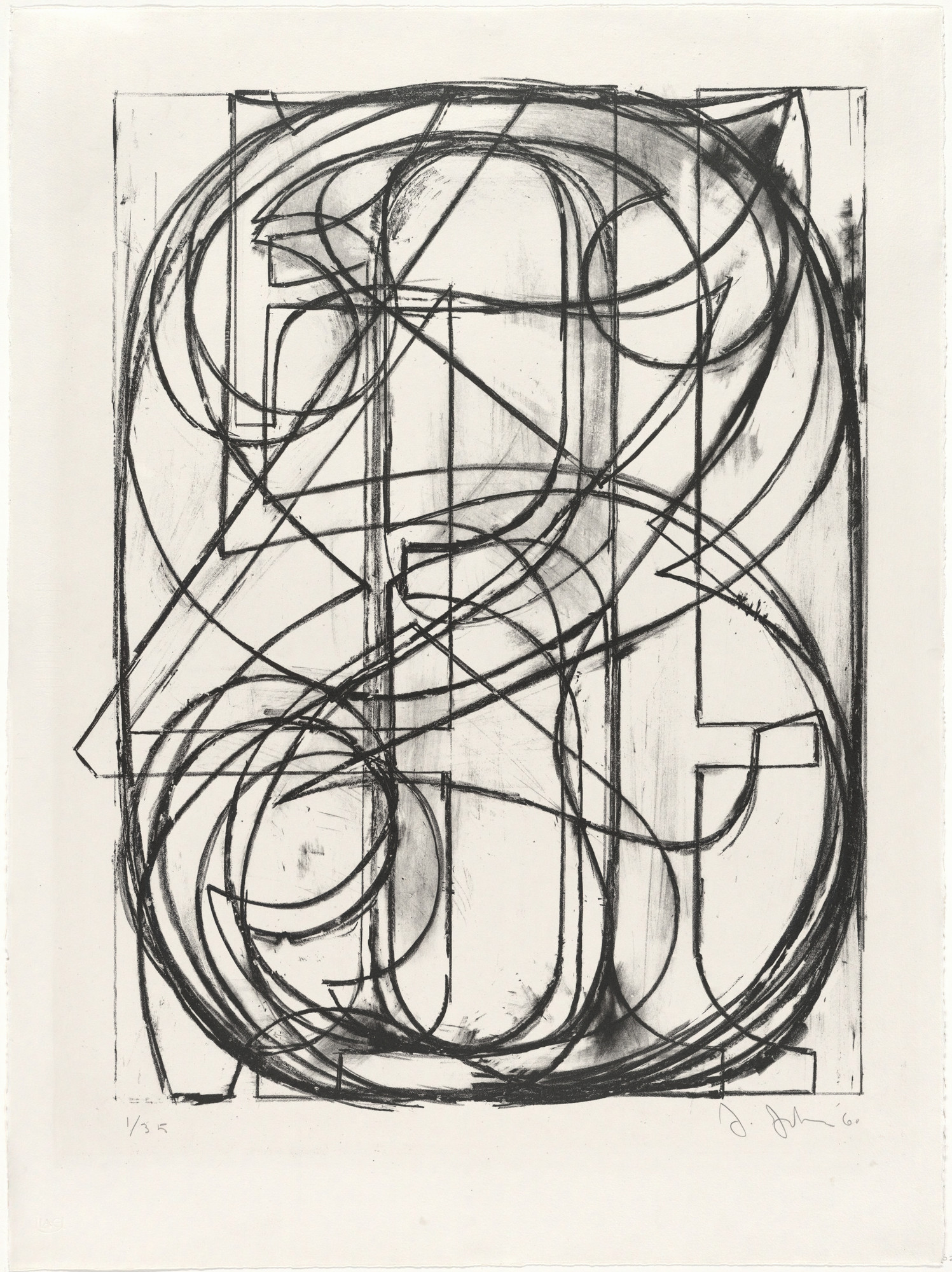 Jasper Johns. 0 through 9. 1960