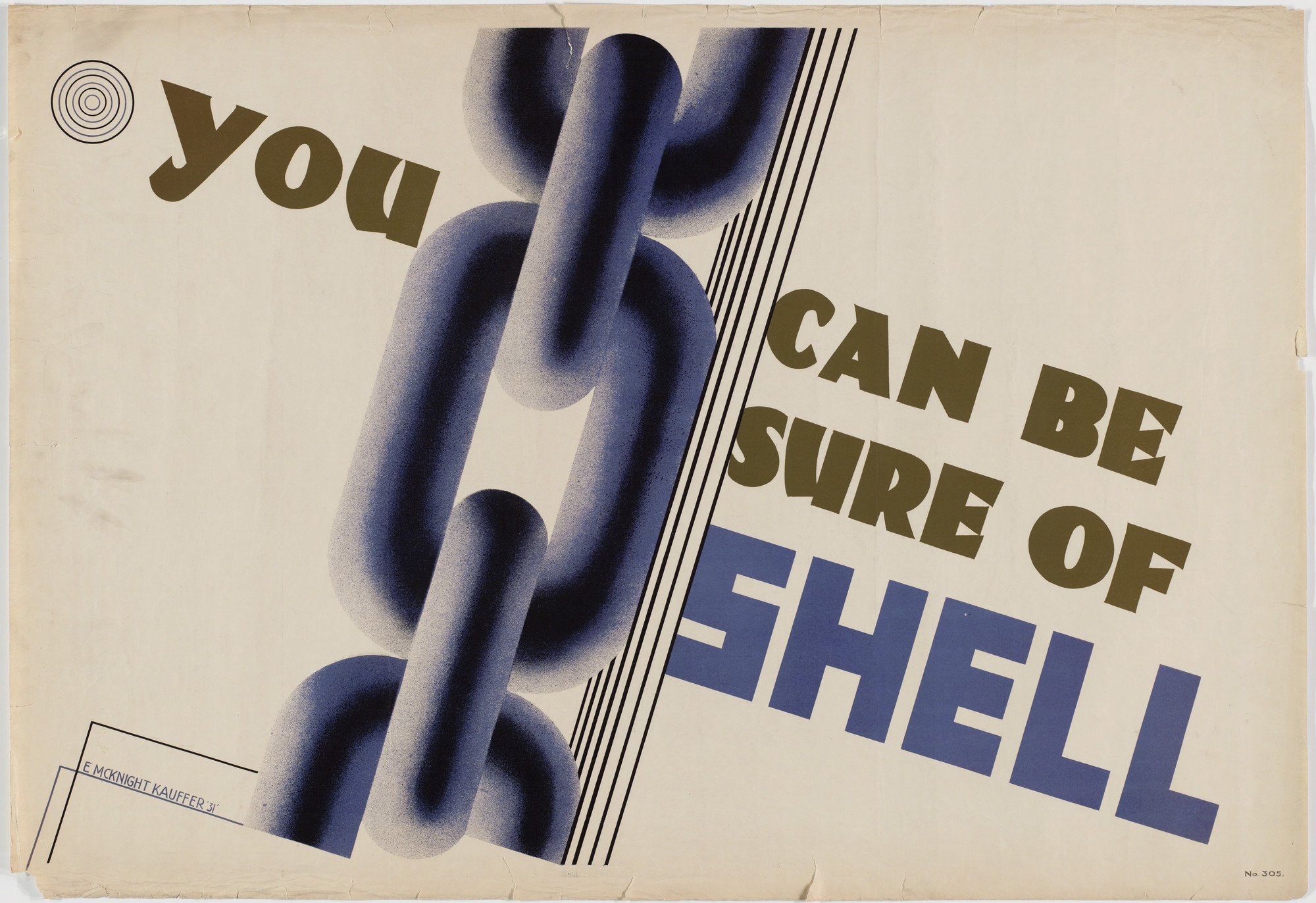 E. McKnight Kauffer. You Can Be Sure of Shell. 1931
