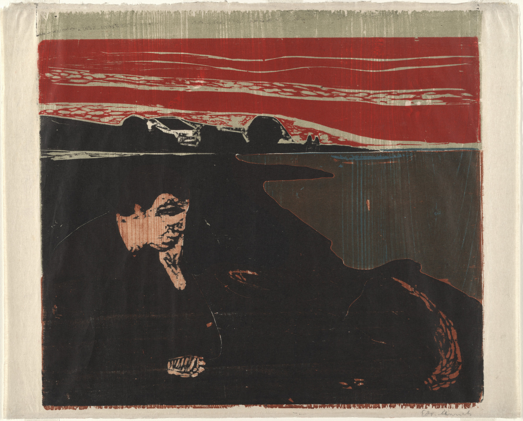 Edvard Munch. Evening. Melancholy I (Aften. Melankoli I). 1896