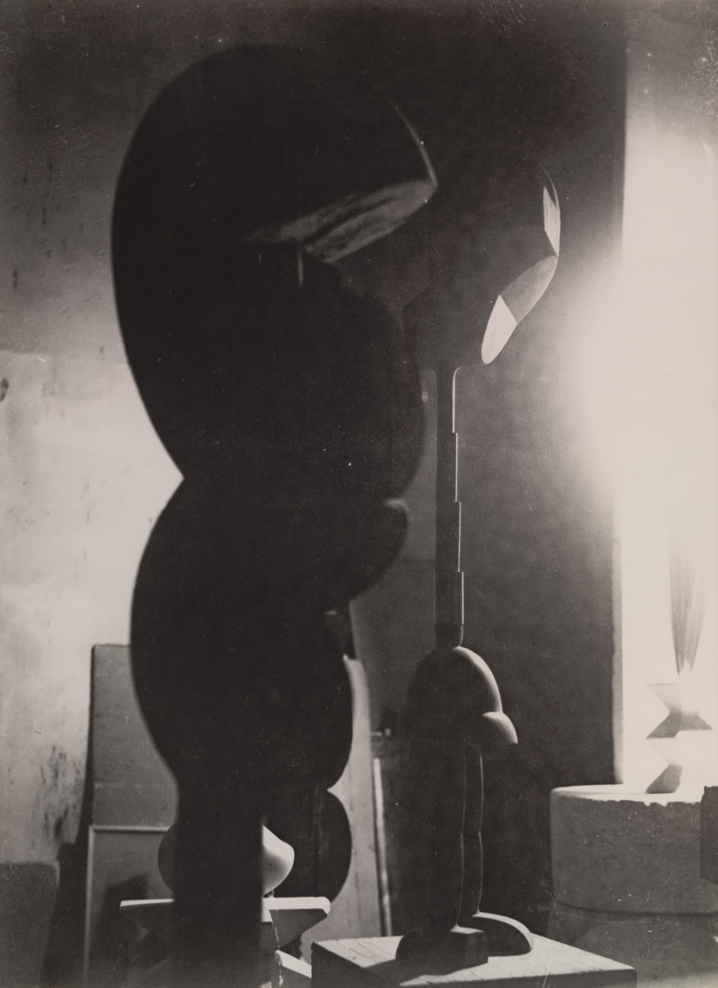 Constantin Brancusi. Untitled (View of the Studio with Eve, Plato, and Golden Bird). 1922