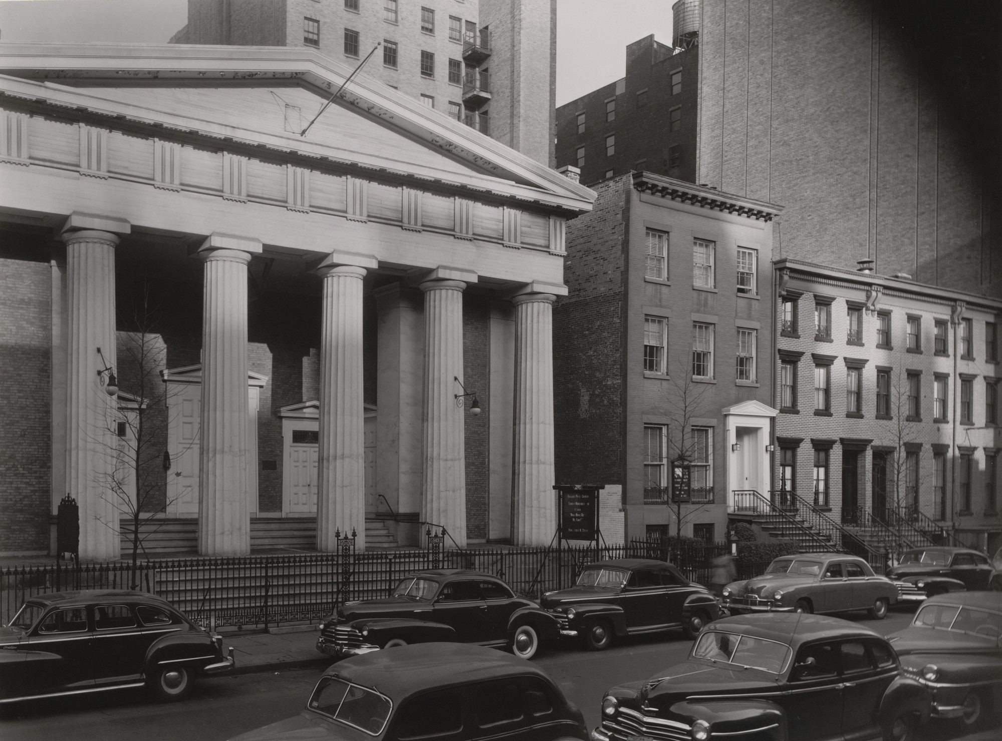 Berenice Abbott. Village Presbyterian Church, 143 West 13th Street. c. 1948