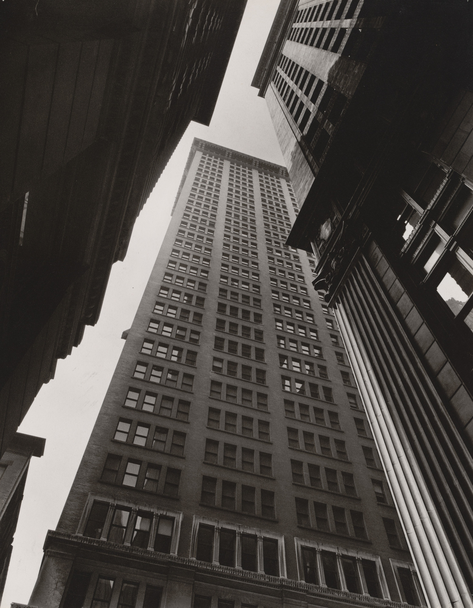 Berenice Abbott. Canyon: Broadway and Exchange Place, Manhattan. July 16, 1936