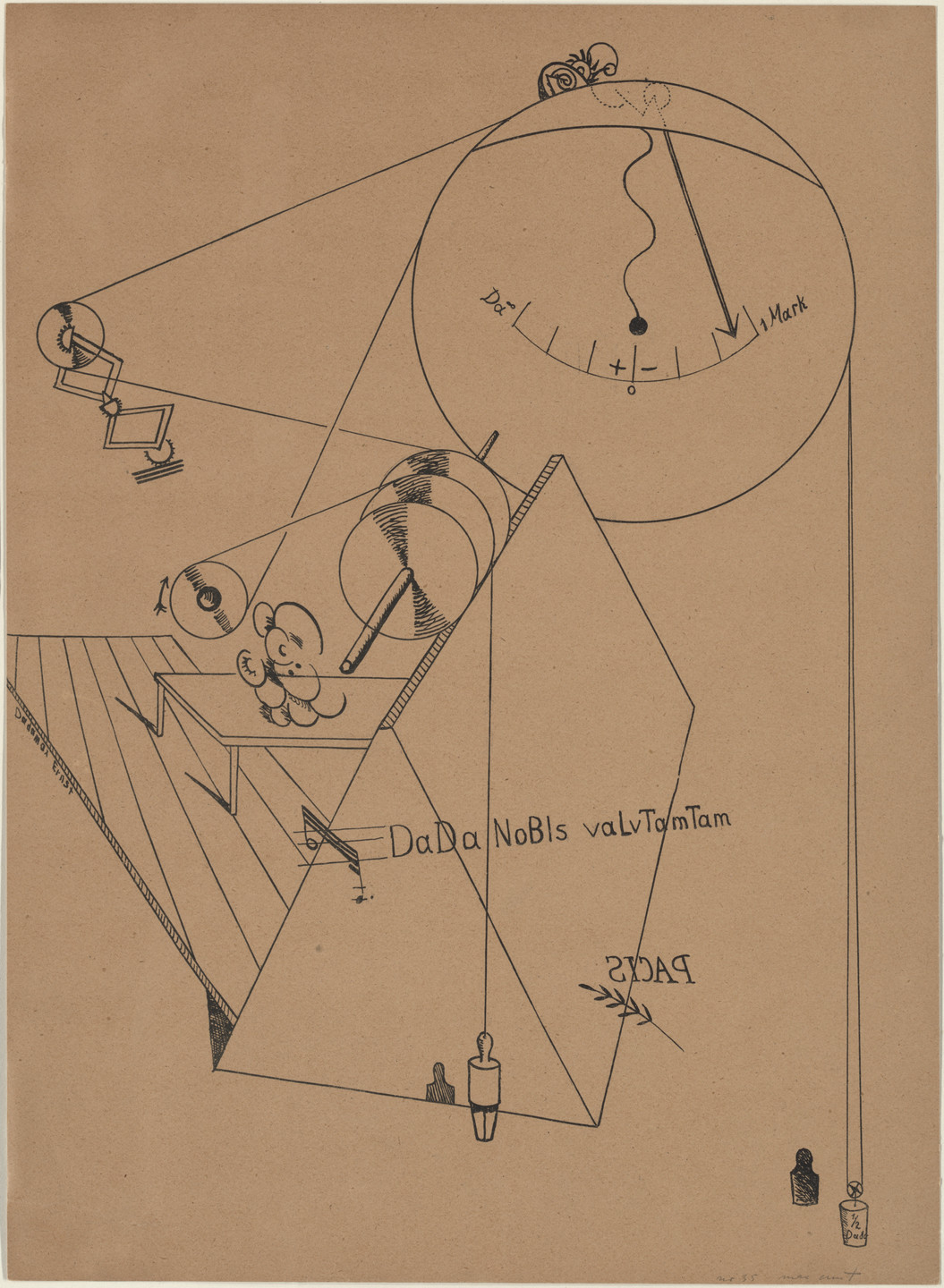 Max Ernst. Plate VIII from Let There Be Fashion, Down With Art (Fiat modes pereat ars). 1920