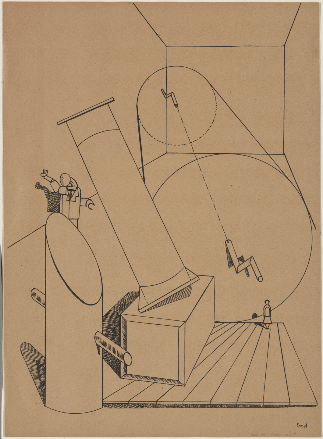 Max Ernst. Plate V from Let There Be Fashion, Down With Art (Fiat modes pereat ars). 1920