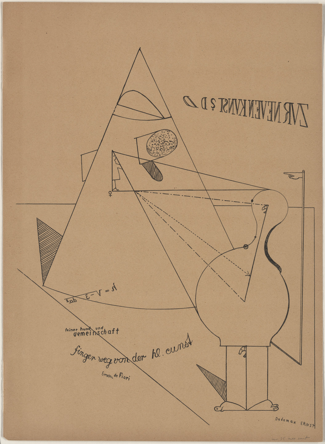 Max Ernst. Plate VII from Let There Be Fashion, Down With Art (Fiat modes pereat ars). 1920