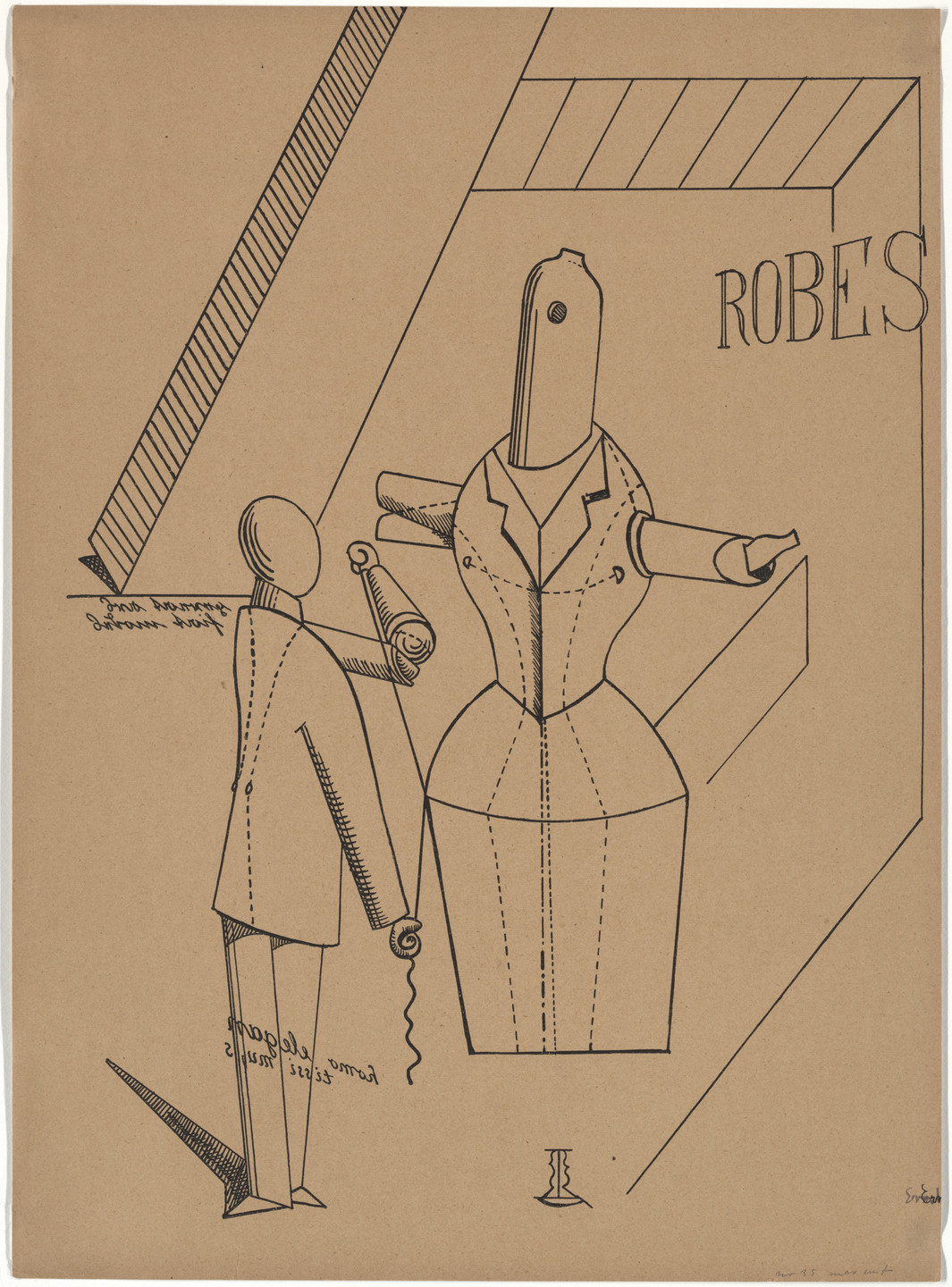Max Ernst. Plate I from Let There Be Fashion, Down With Art (Fiat modes pereat ars). 1920