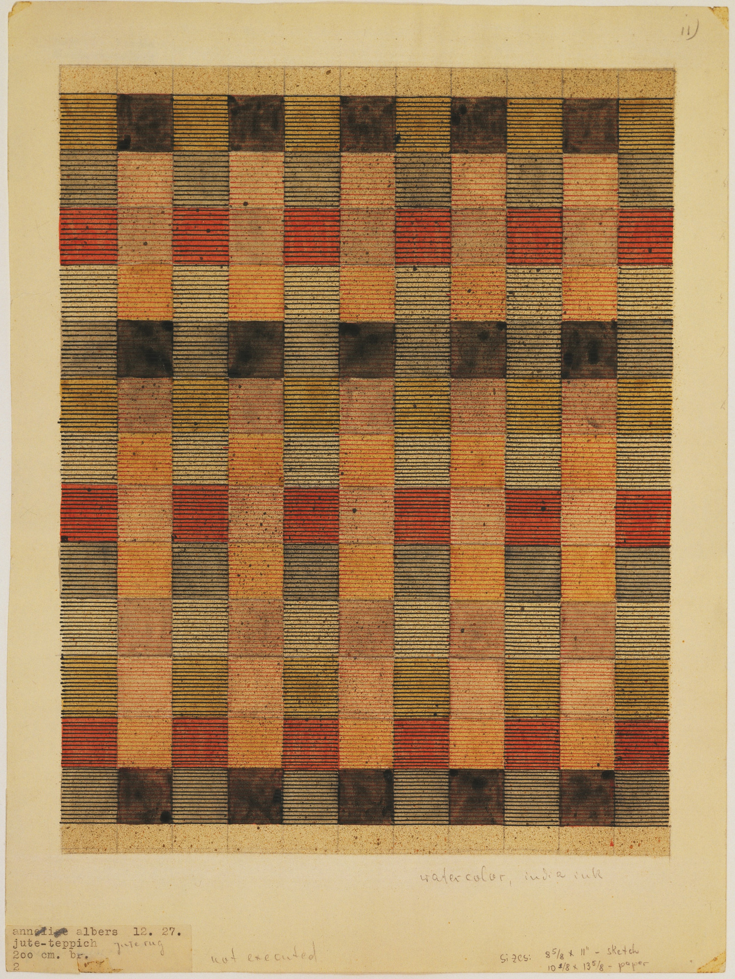Anni Albers. Design for Jute Rug. 1927