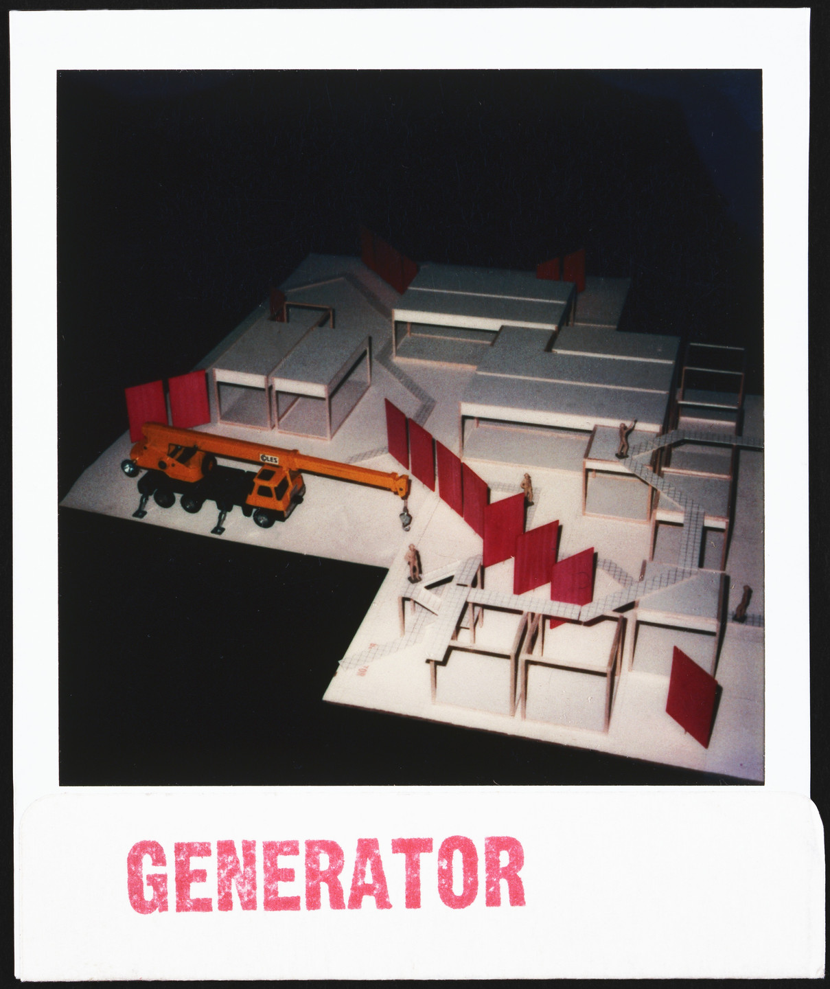Cedric Price. Generator Project, White Oak, Florida, Axonometric of Model under Construction. 1978-80