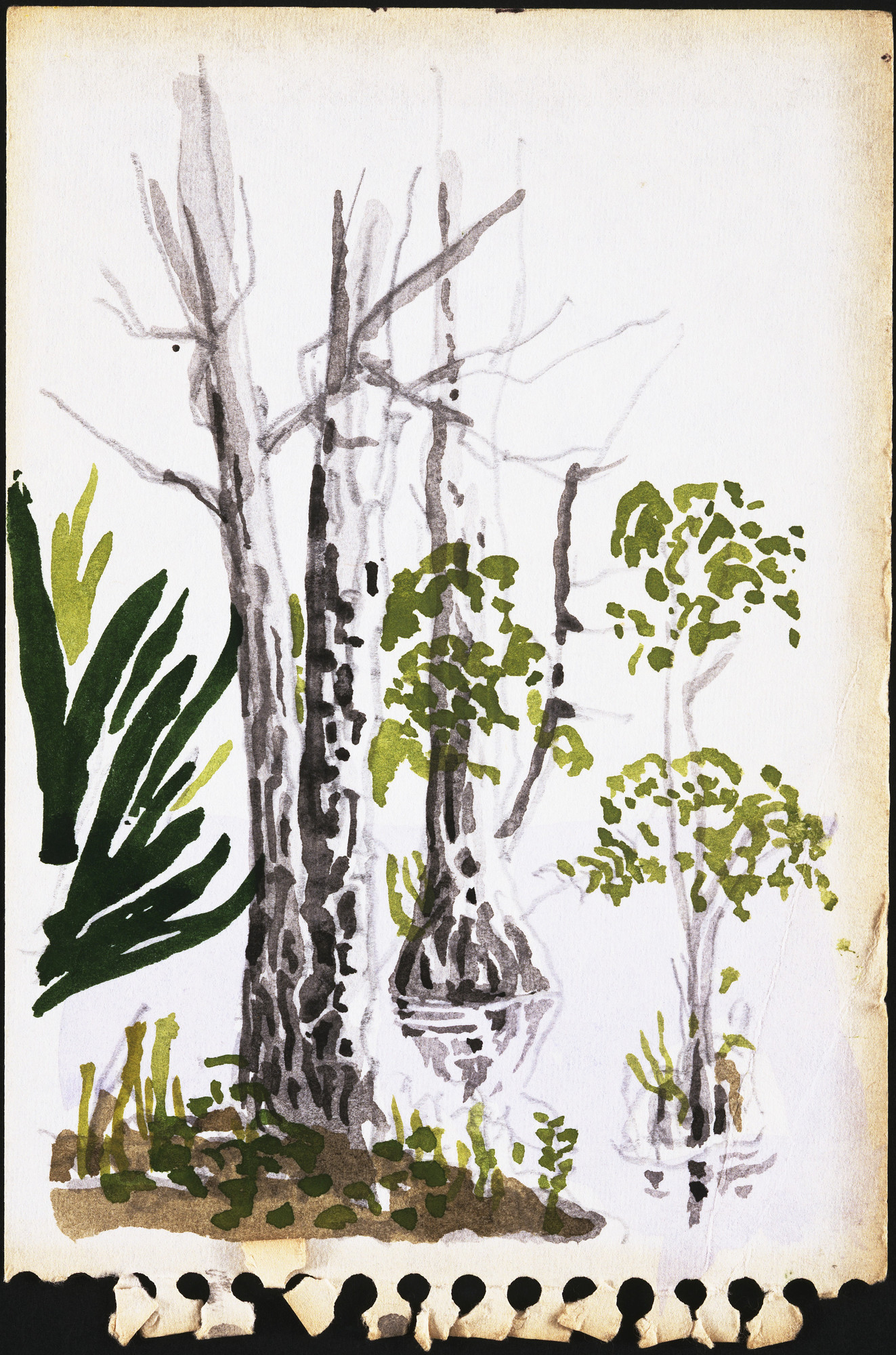 "Cedric Price. Generator Project, White Oak, Florida, Sketch, ""On St. Mary's River"". 1978-80"