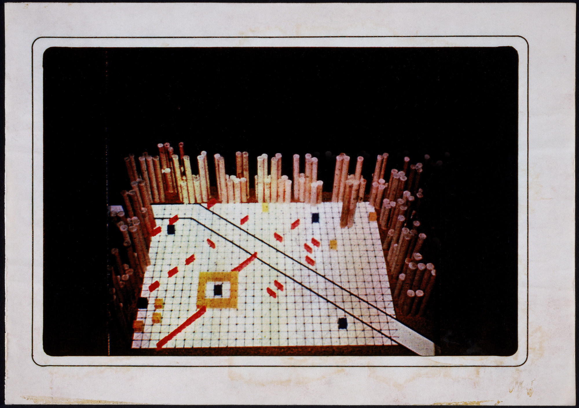 Cedric Price. Generator Project, White Oak, Florida, Perspective of study model. 1978-80