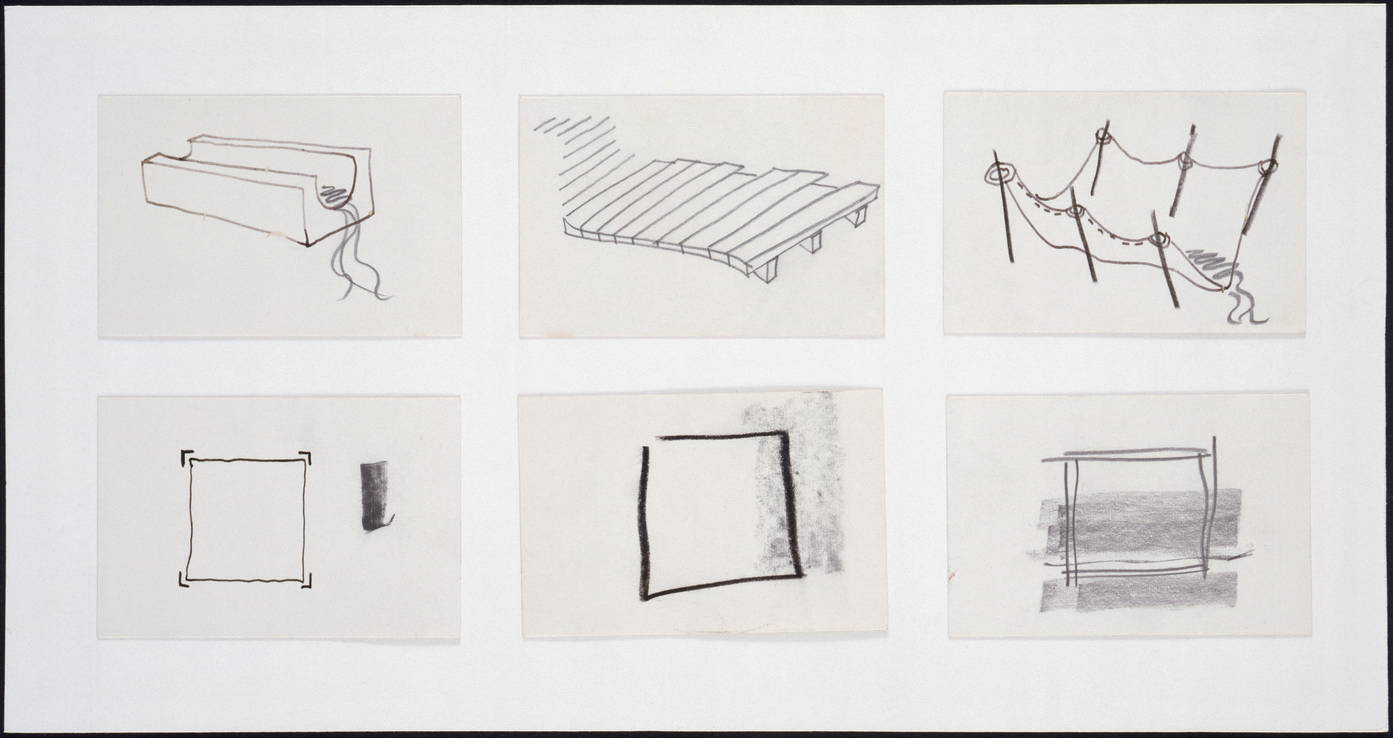 Cedric Price. Generator Project, White Oak, Florida, Plan and perspective sketches. 1978-80