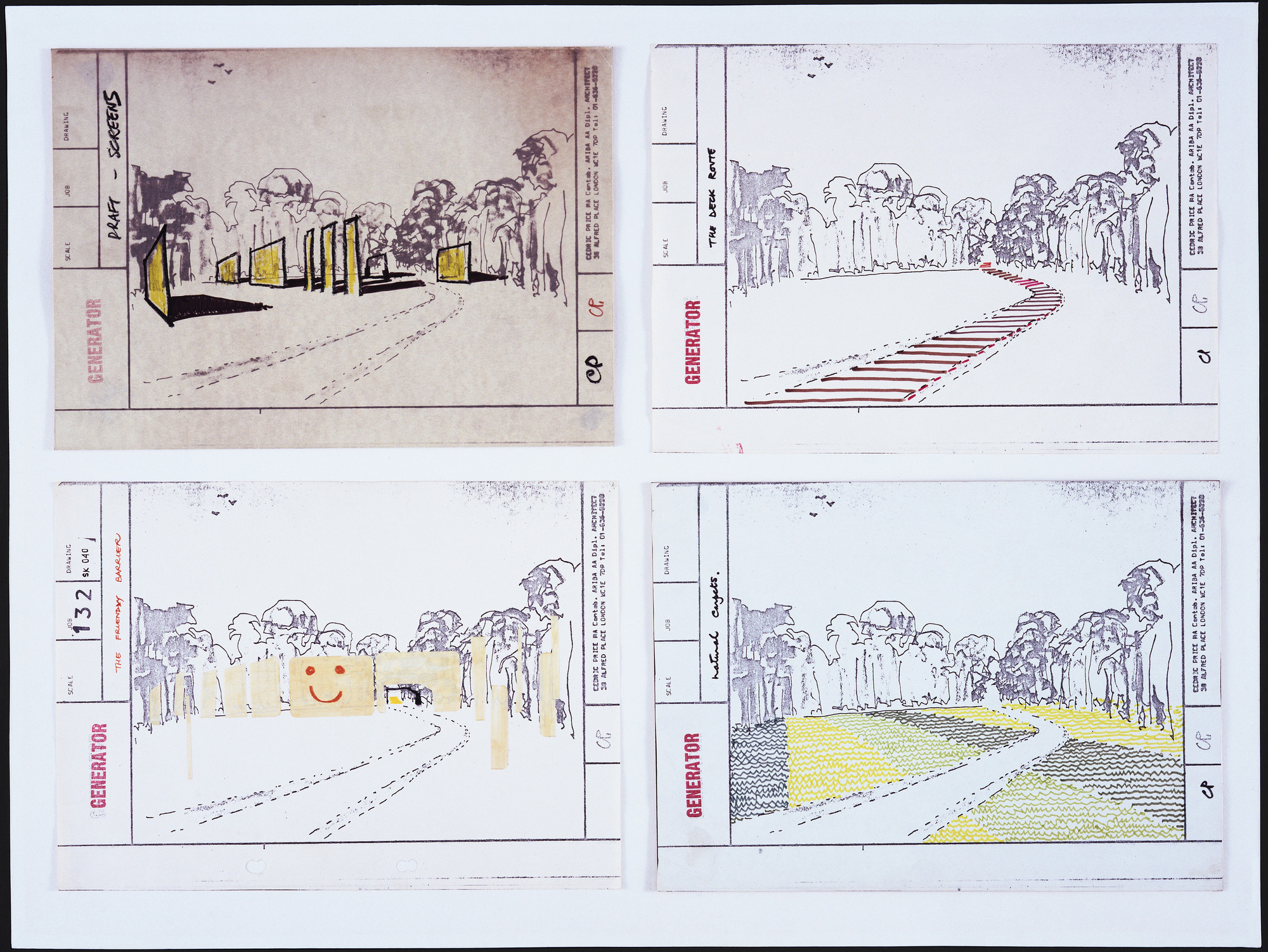 "Cedric Price. Generator Project, White Oak, Florida, Development of the ""Friendly Barrier Concept"". 1978-80"