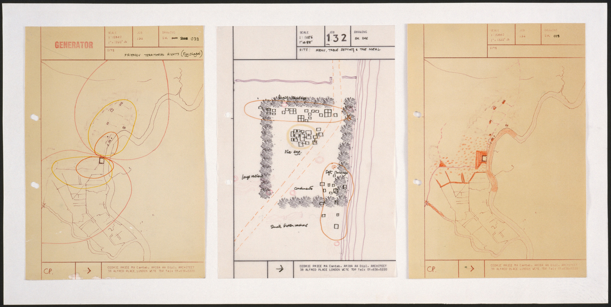 Cedric Price. Generator Project, White Oak, Florida, The Site Large and Small. 1978-80