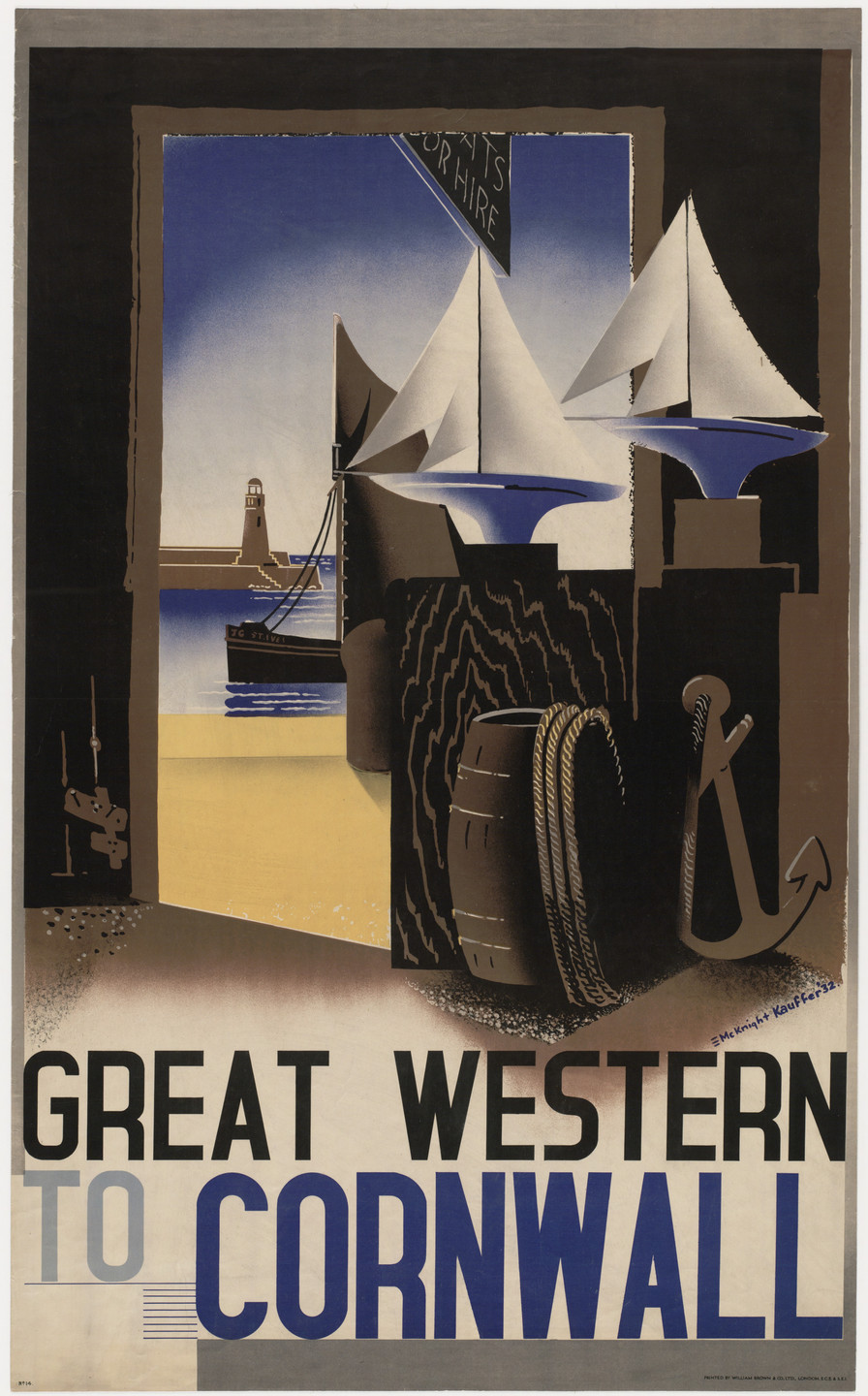 E. McKnight Kauffer. Great Western to Cornwall. 1932