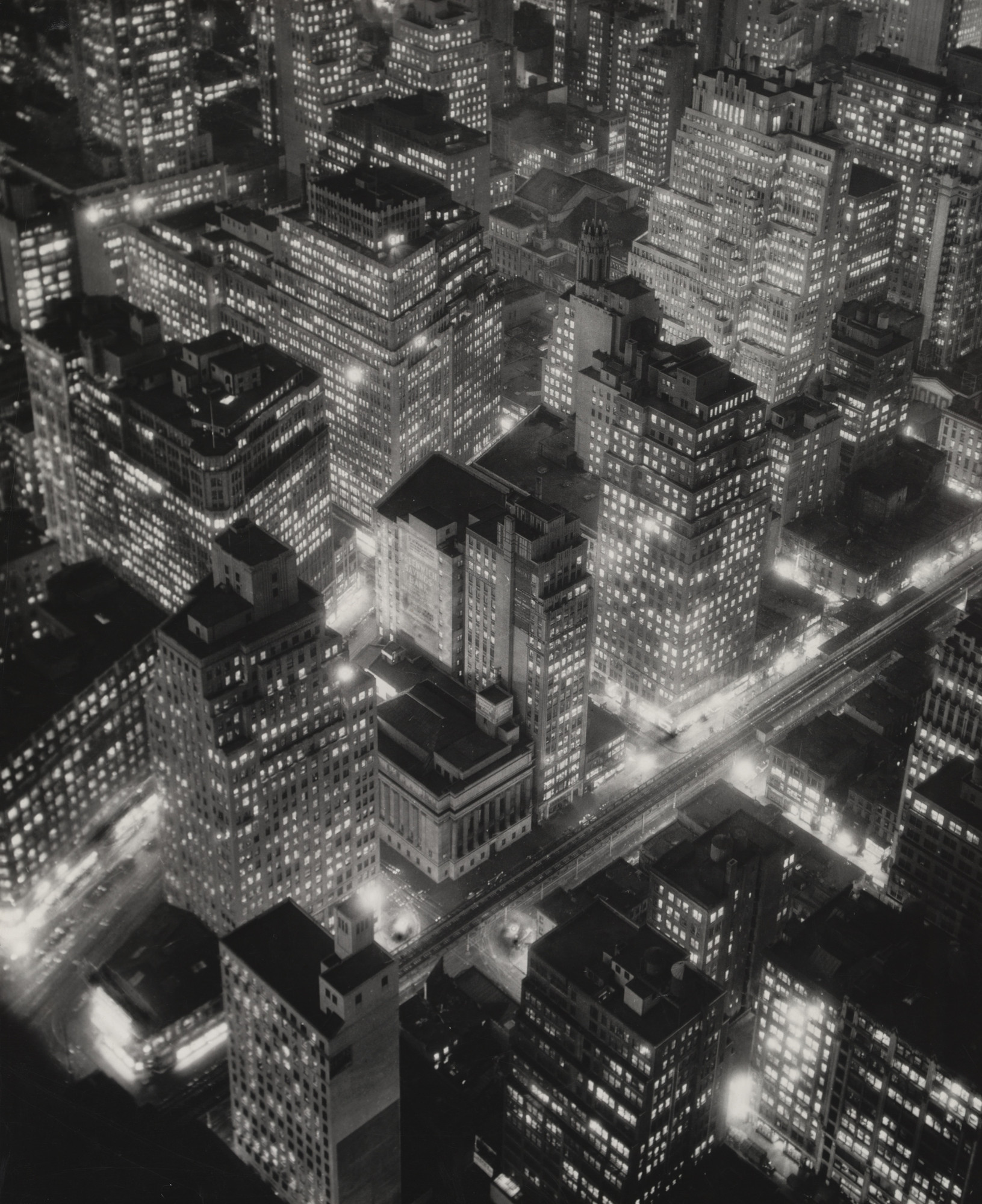 Berenice Abbott. New York at Night. 1932